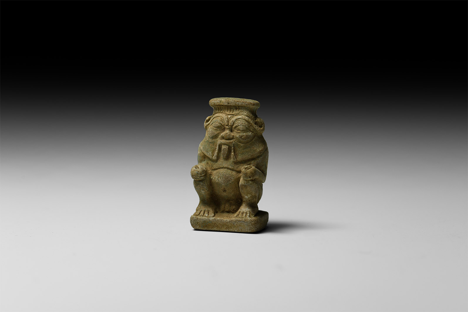 Egyptian Squatting Bes Amulet