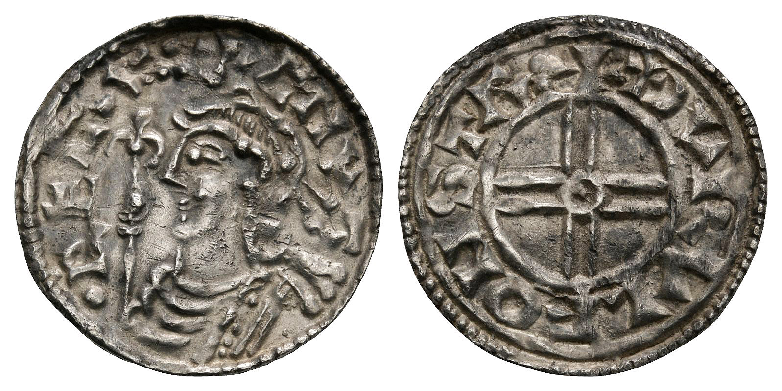 Anglo-Saxon Coins - Cnut - Stamford / Thurulf - Short Cross Penny