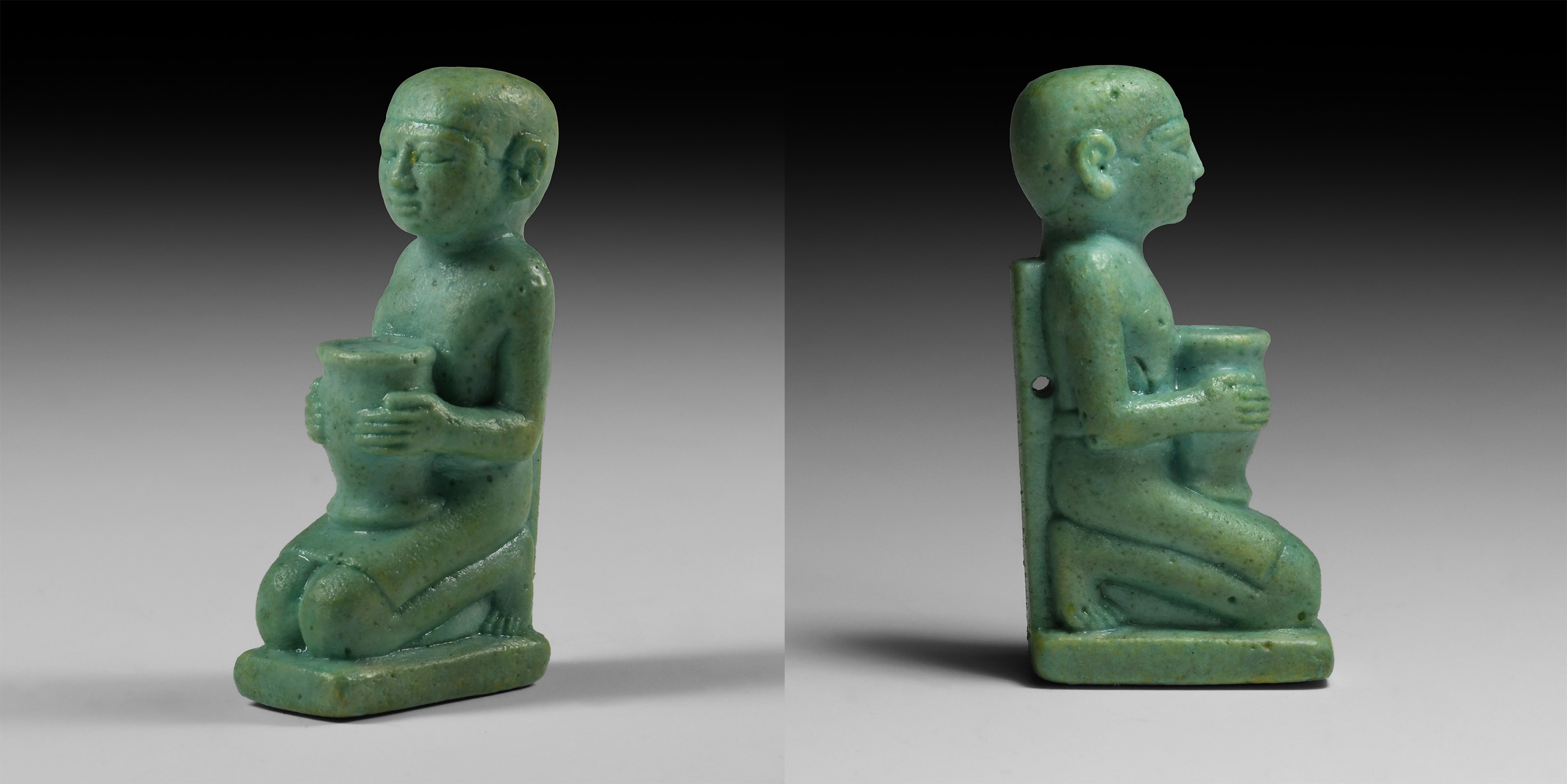 Exceptional Egyptian Offering Male Figure