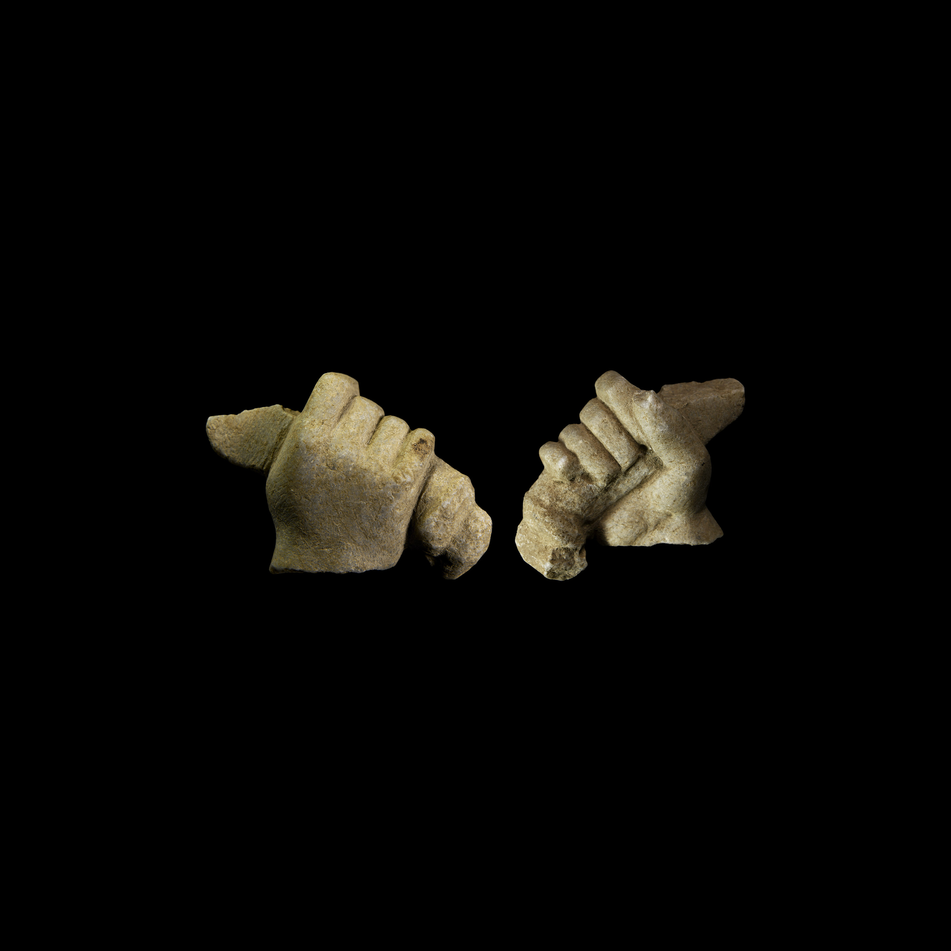 Roman Marble Hand Holding Bow