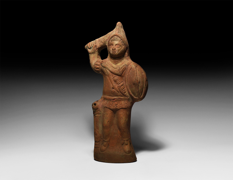 Romano-Egyptian Alexandrian Mars Oil Lamp
