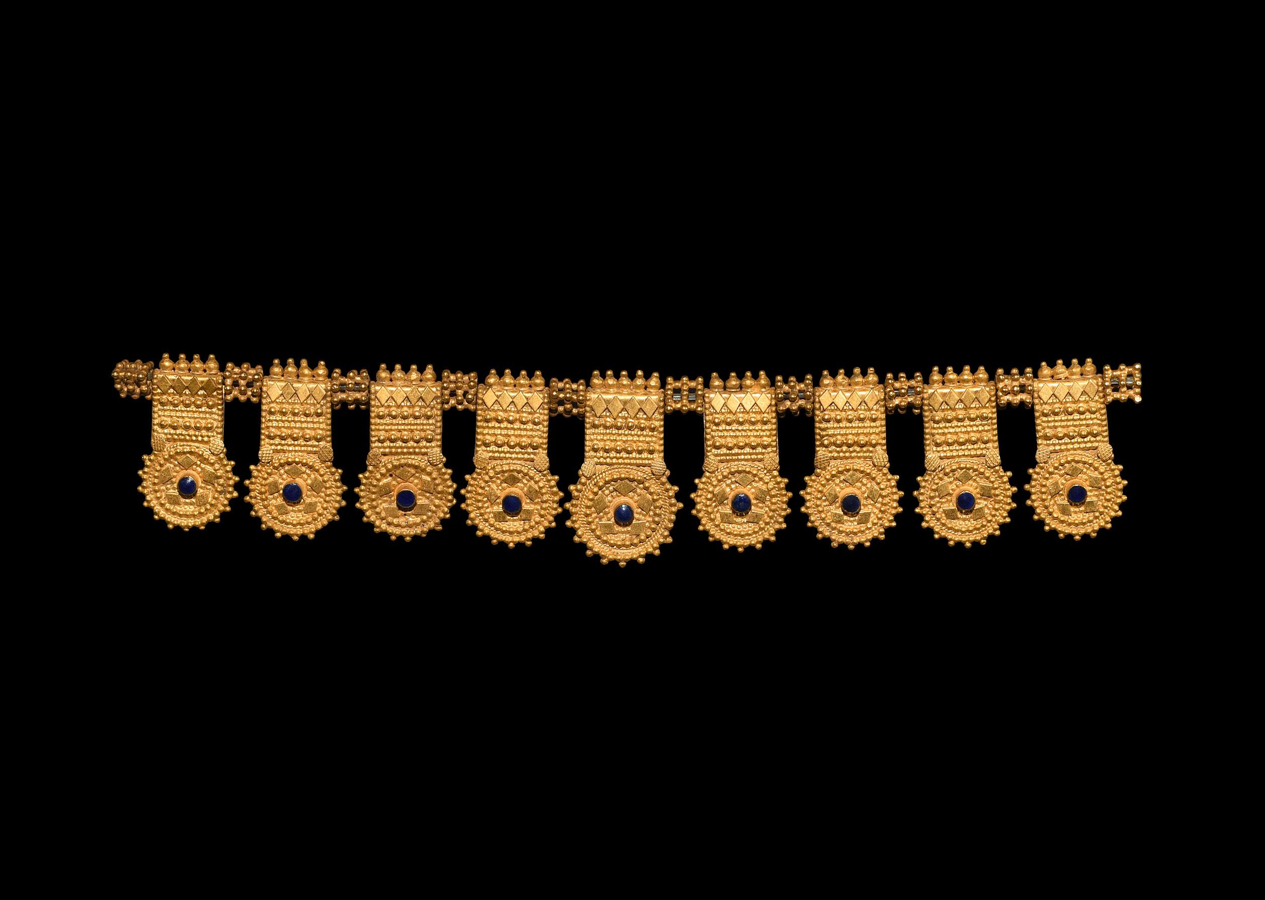 Parthian Gold Necklace Pendant Set