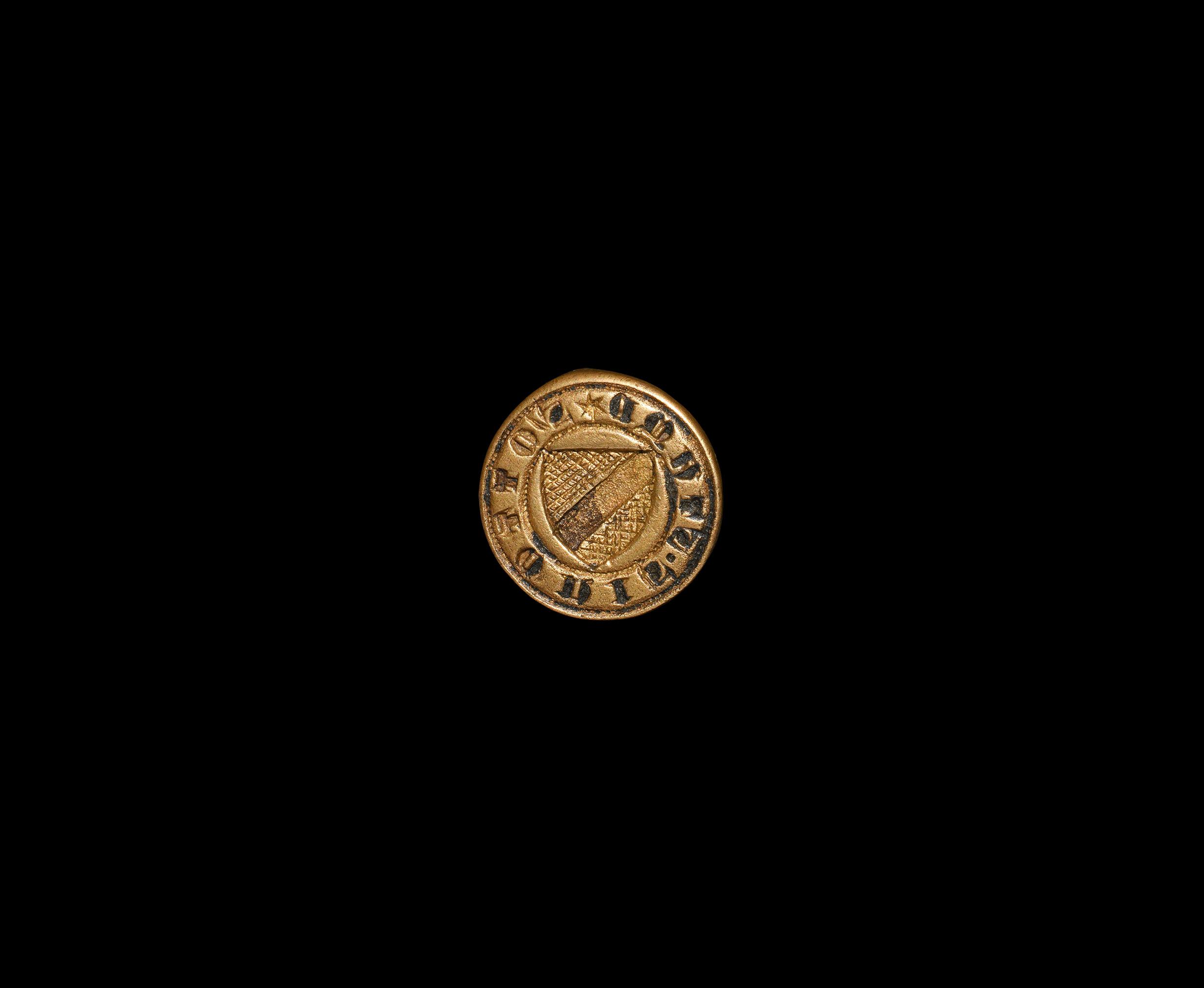 Medieval Personal Heraldic Seal Matrix