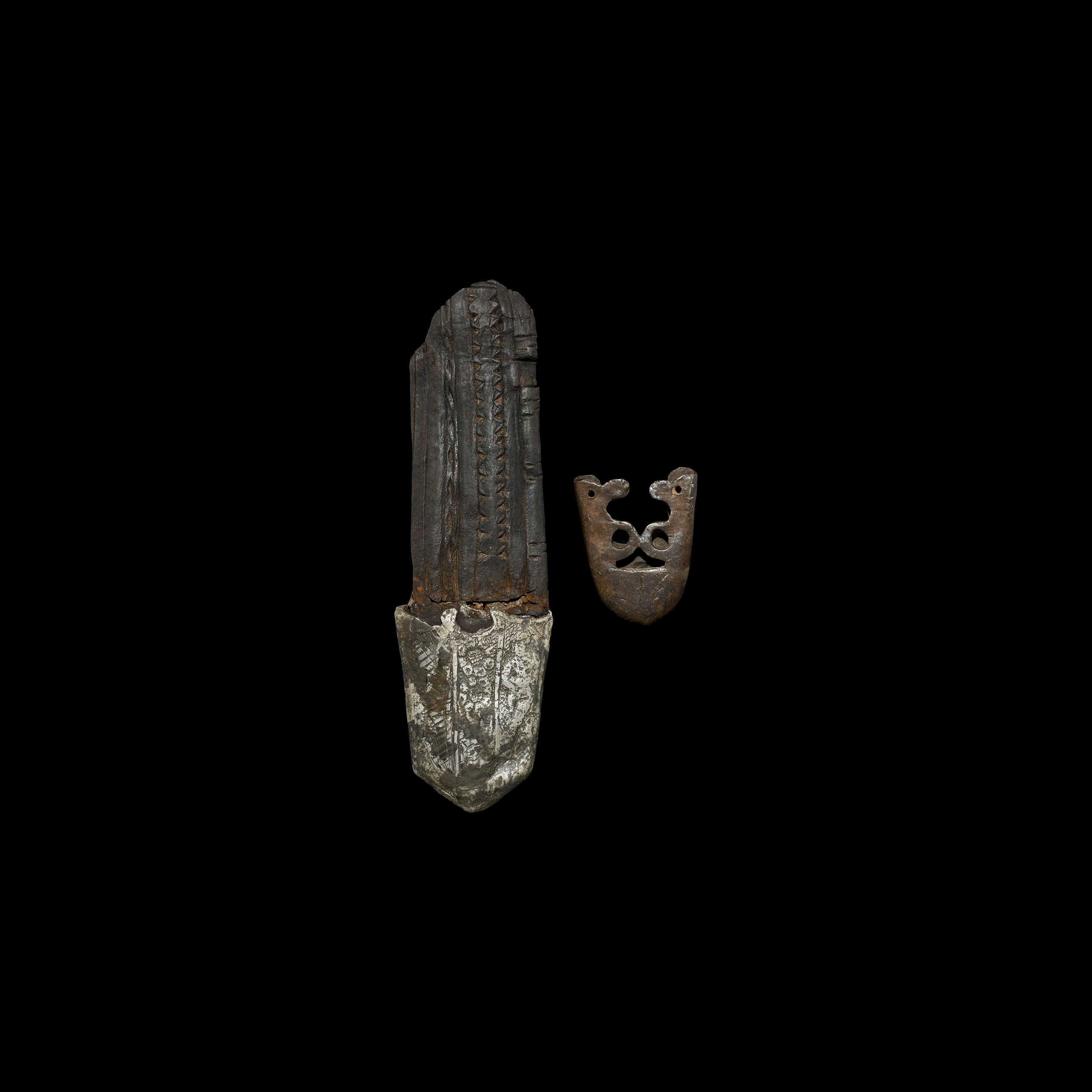 Medieval Sword Chape Group