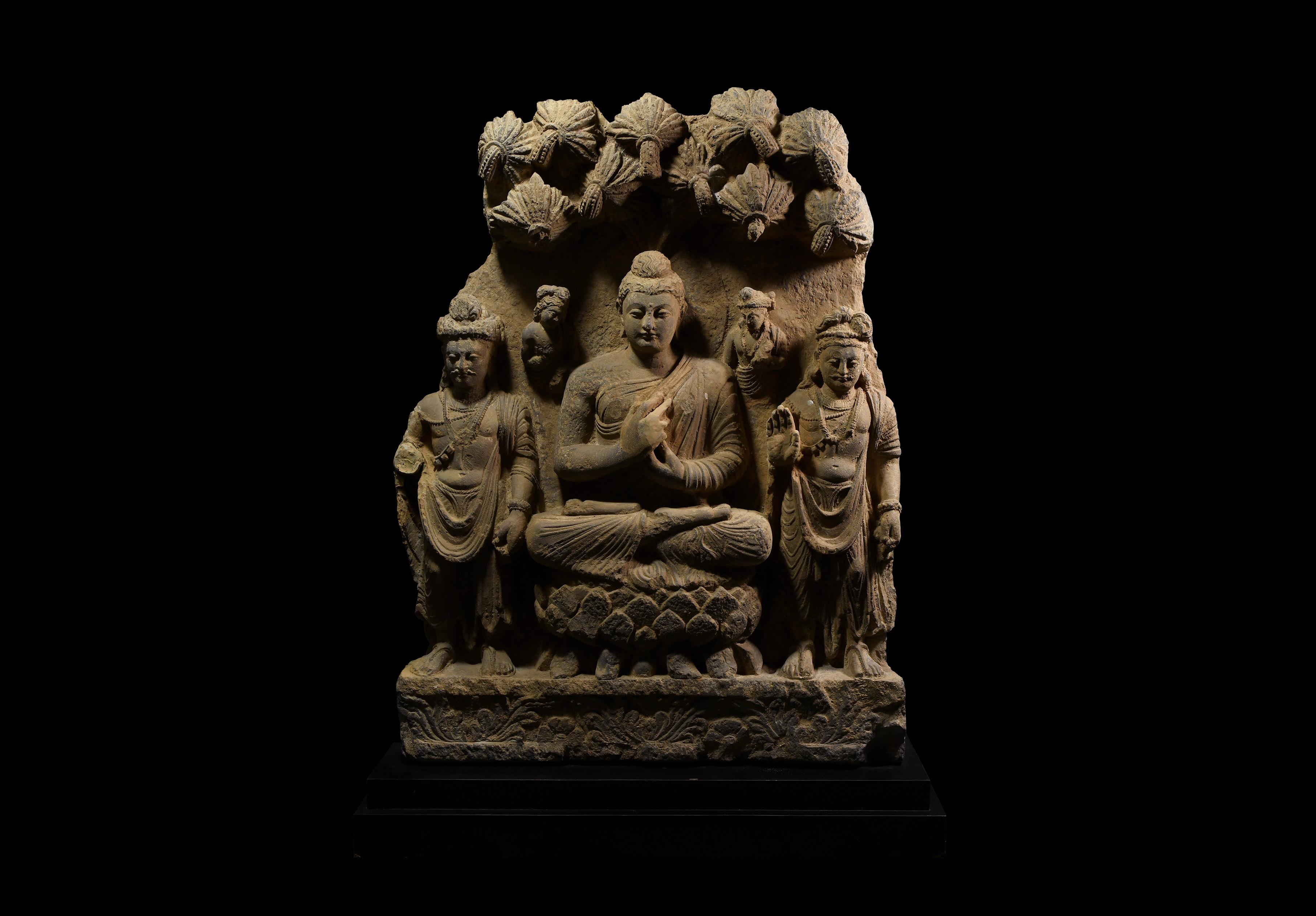 Large Gandharan Buddha Frieze Section