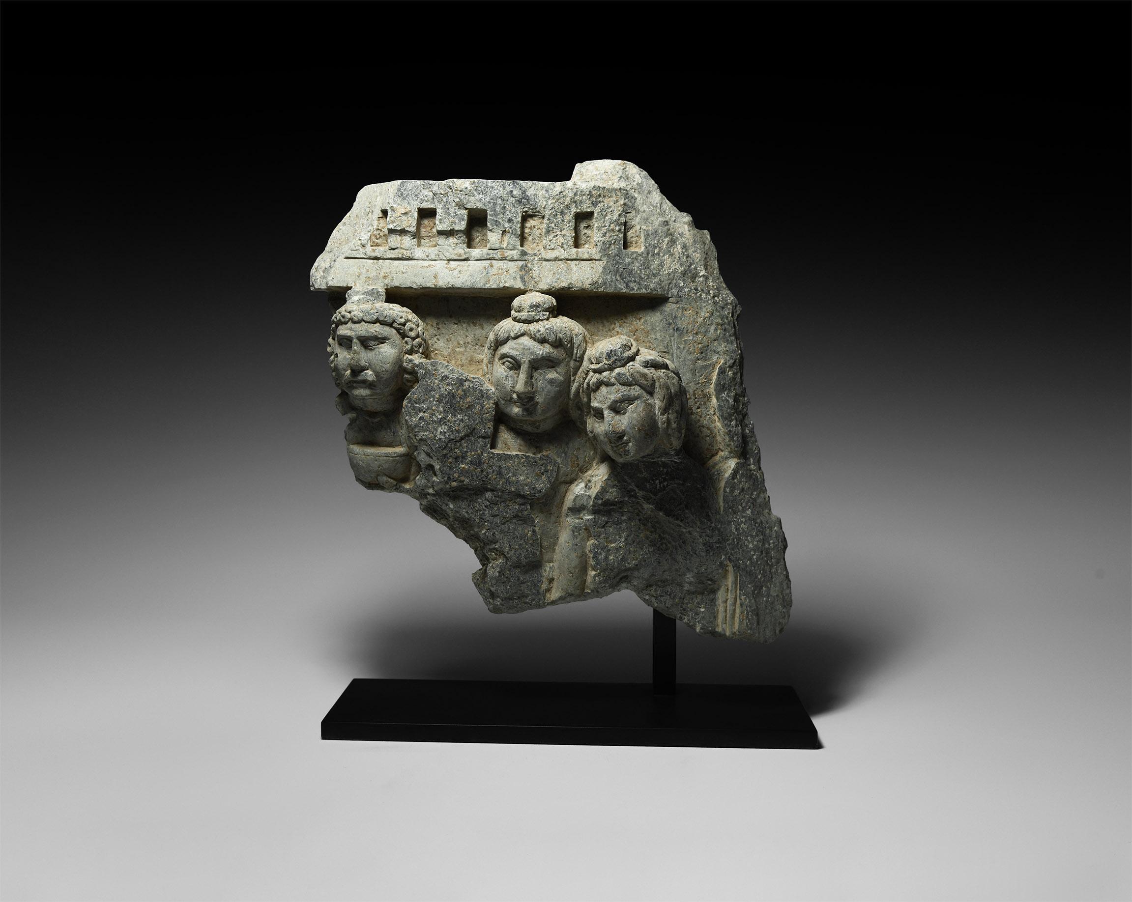 Gandharan Frieze Section with Bodhisattvas