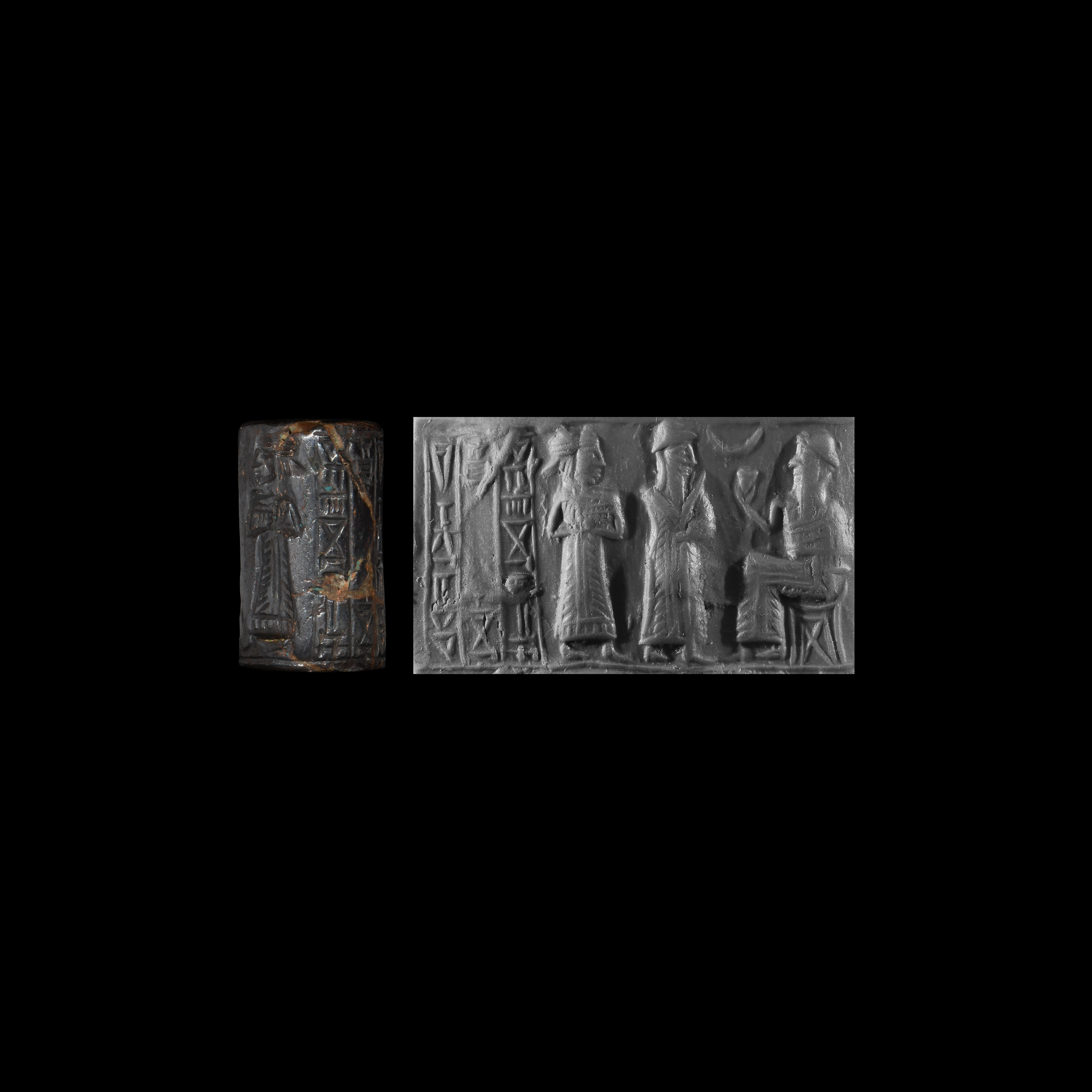 Western Asiatic Babylonian Haematite Cylinder Seal