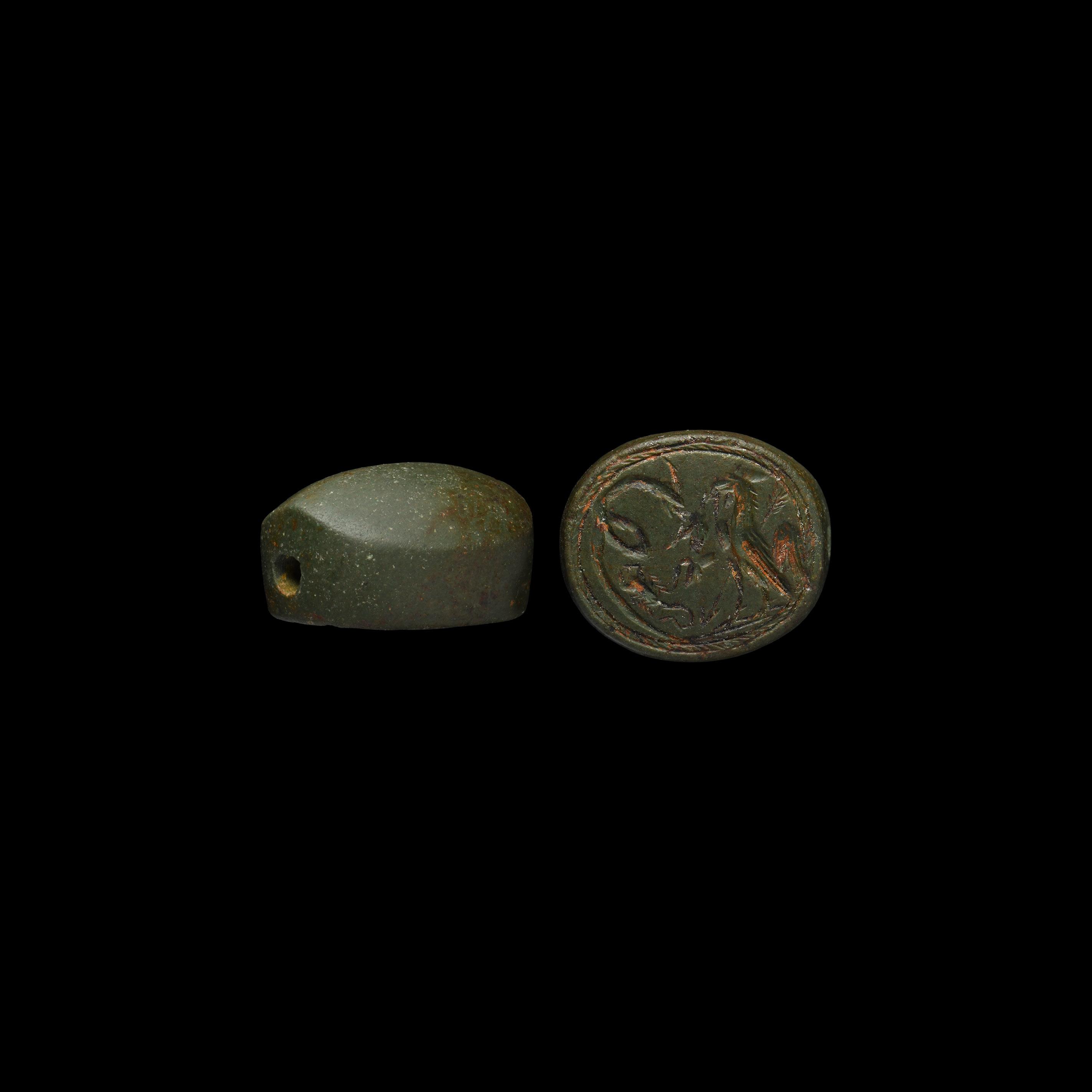 Phoenician Scaraboid Amulet with Bird