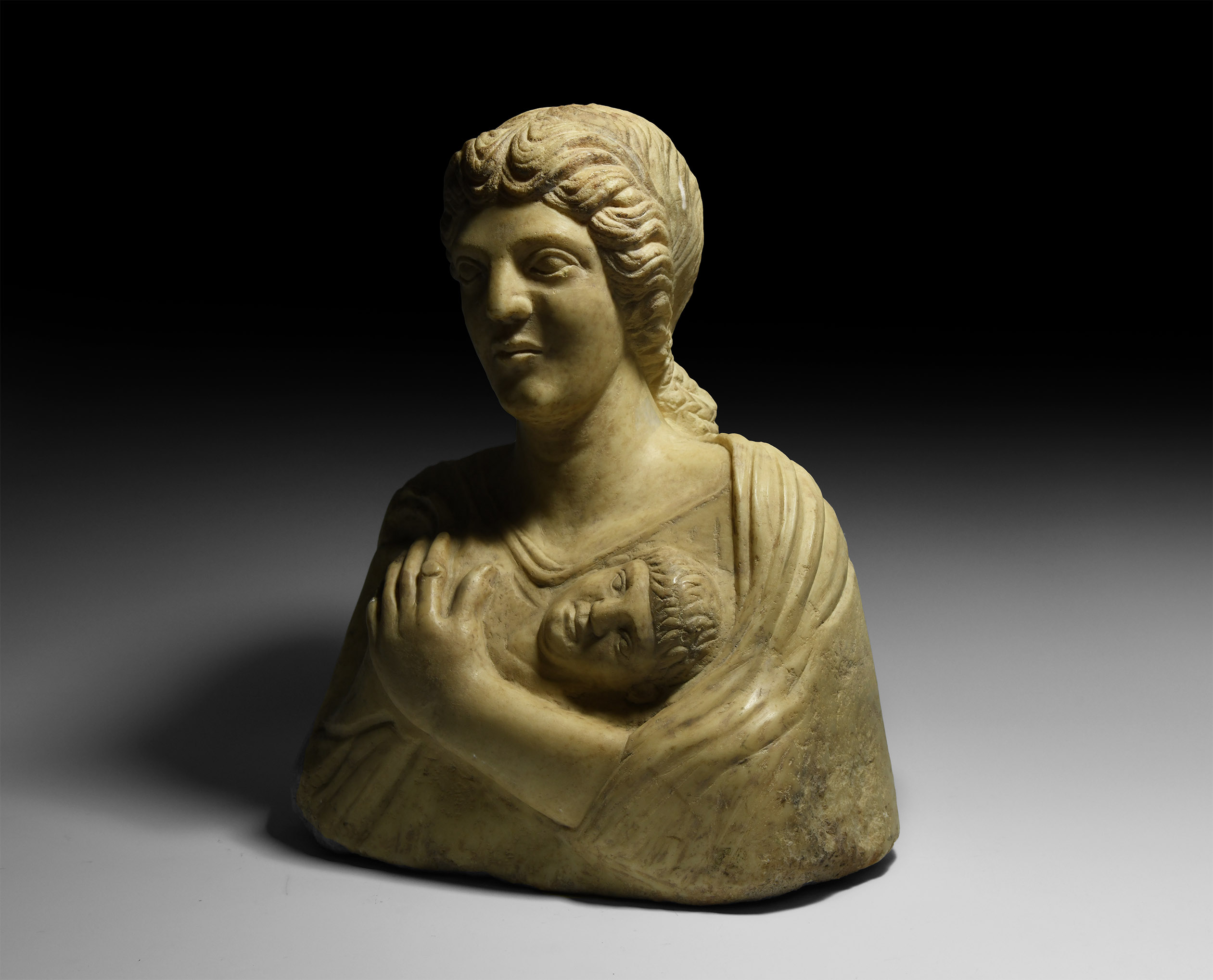 Roman Bust of Goddess and Deceased