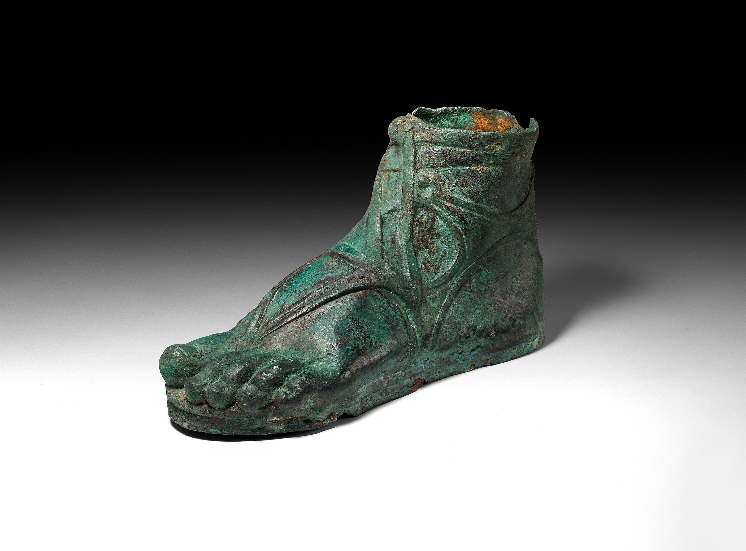 Roman Bronze Sandalled Foot