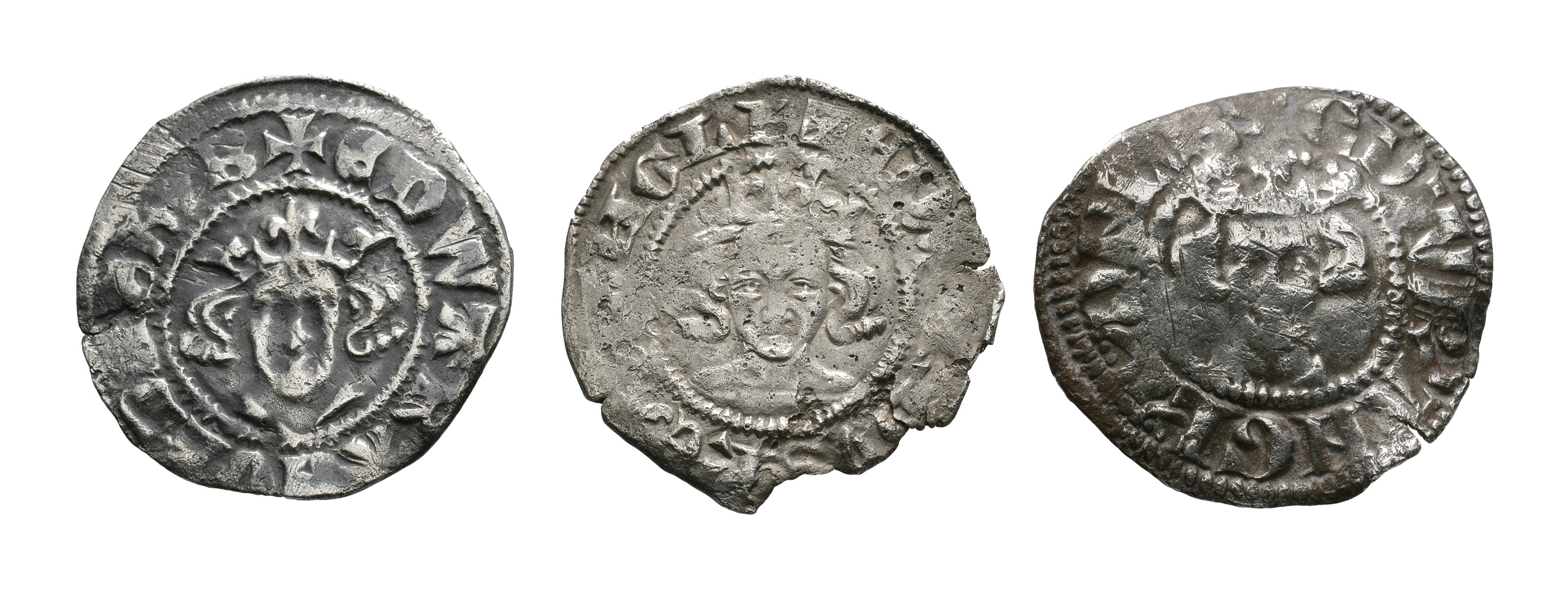 English Medieval Coins - Edward I-II - Canterbury and London - Penny Group [3]