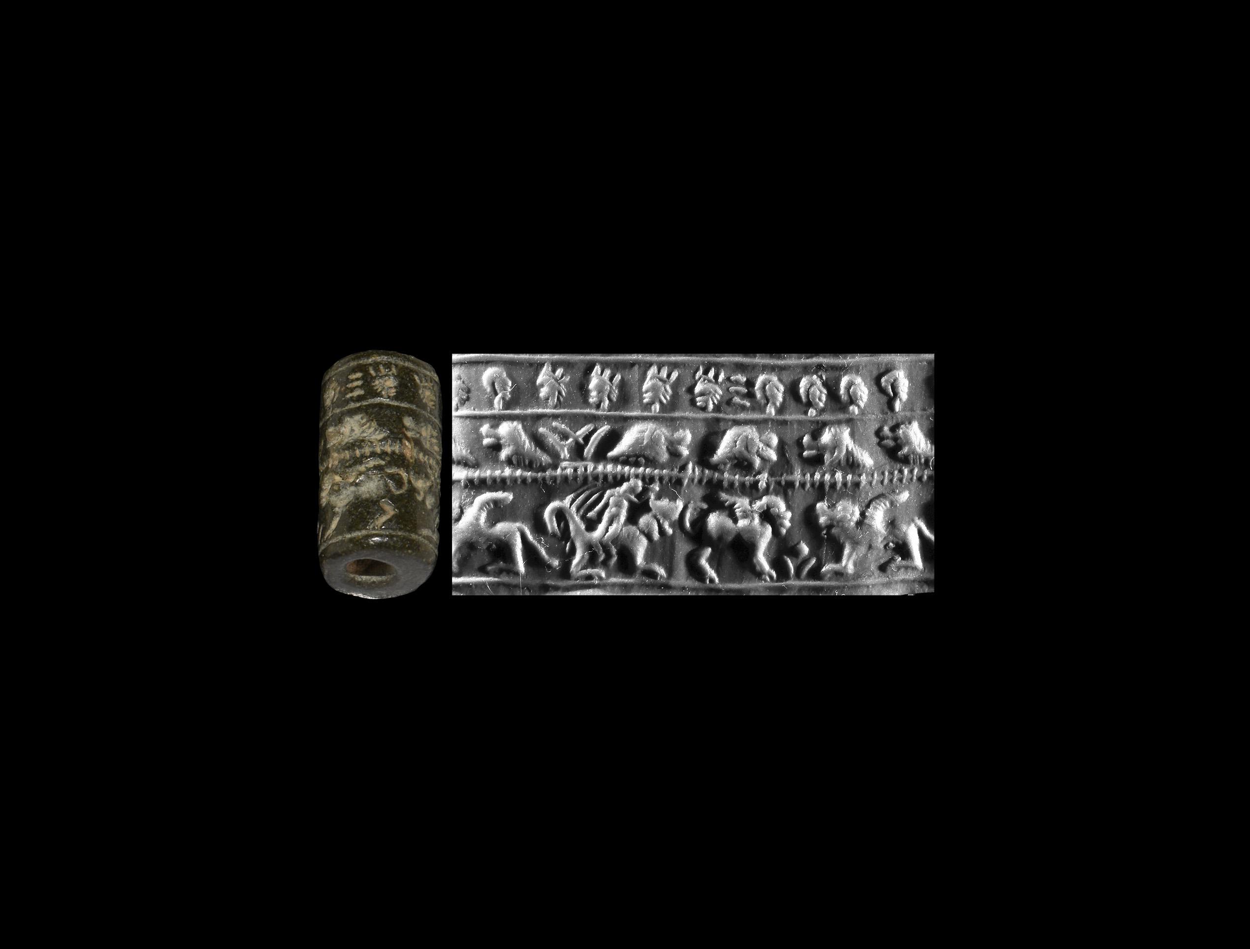 Western Asiatic Figural Cylinder Seal