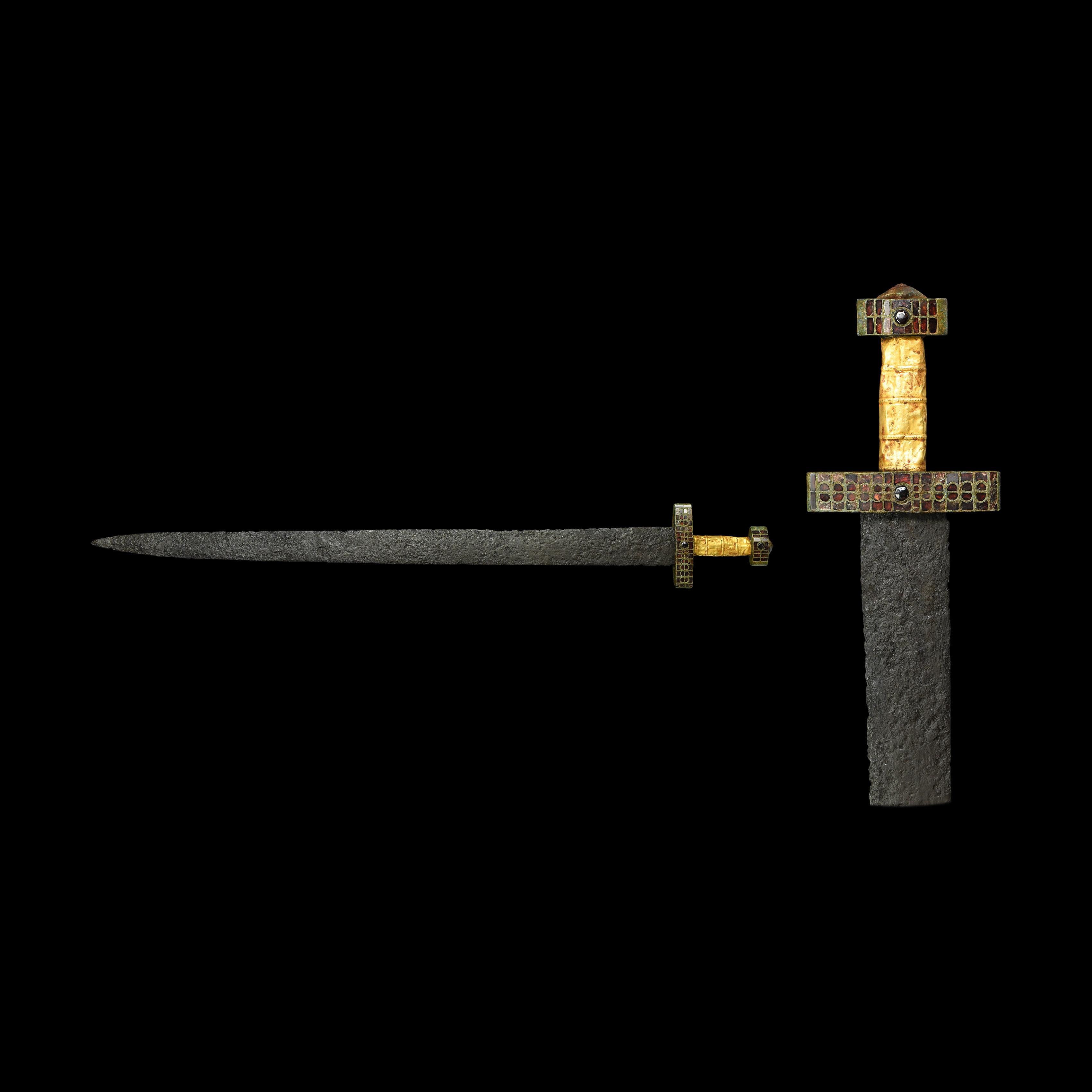 Merovingian or Eastern Roman Sword with Jewelled Hilt