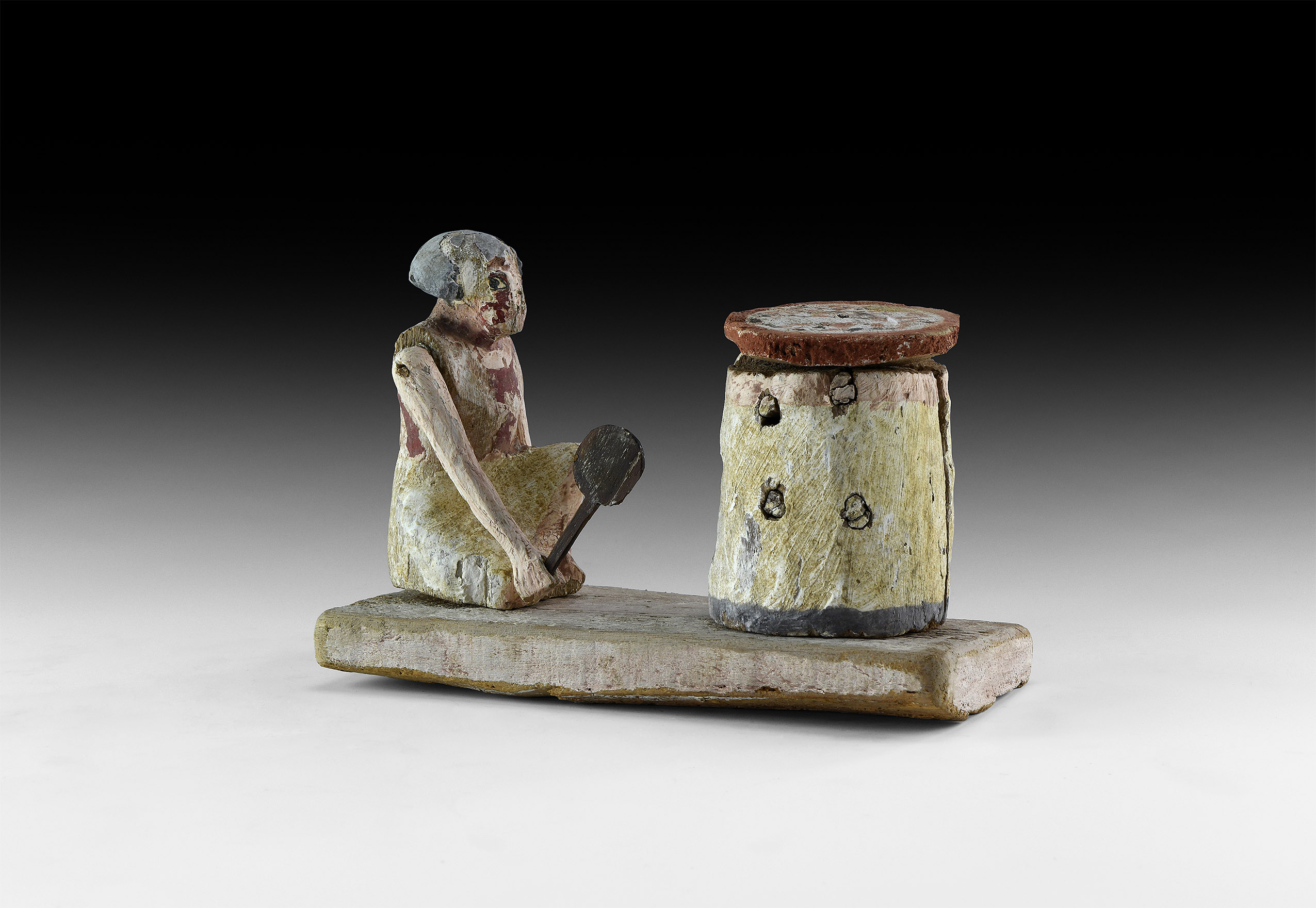 Large Egyptian Tomb Model with Baker