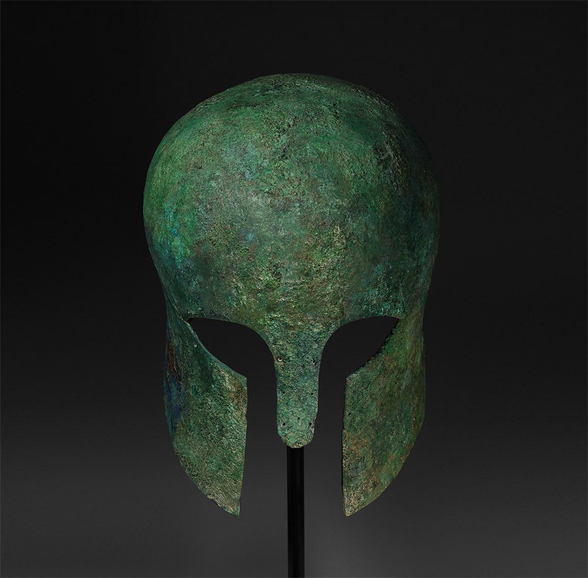 Corinthian Helmet of a Greek Warrior
