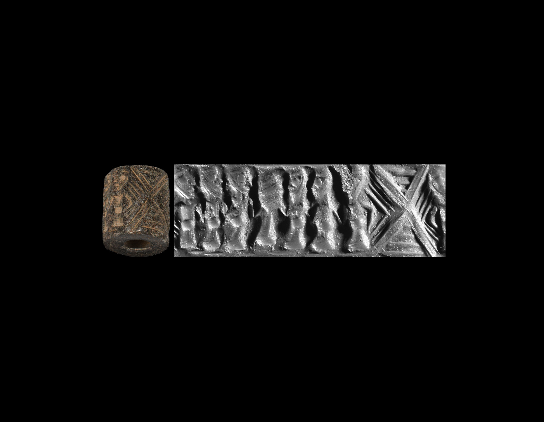 Western Asiatic Cylinder Seal with Presentation Scene