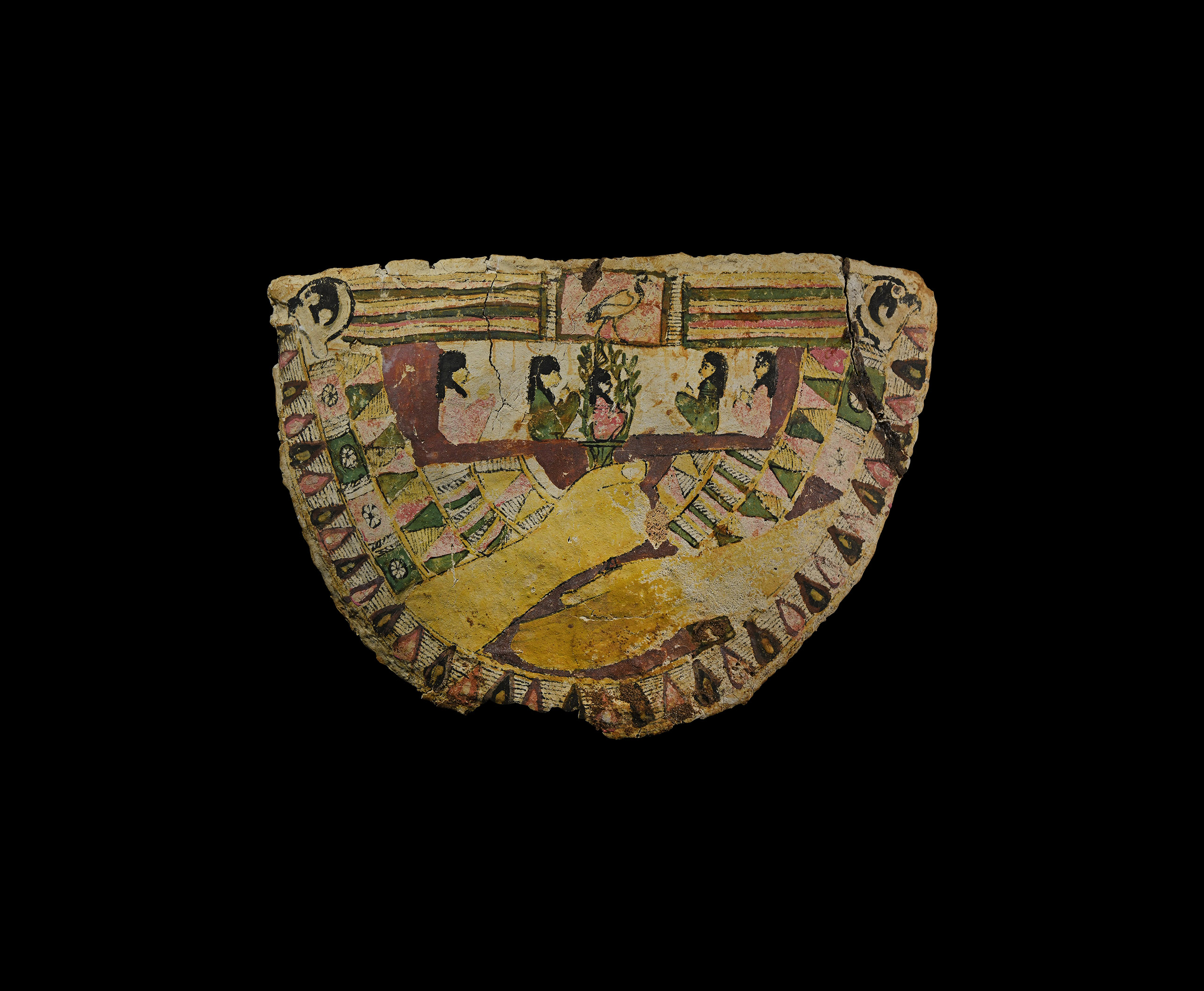 Egyptian Painted Cartonnage Collar