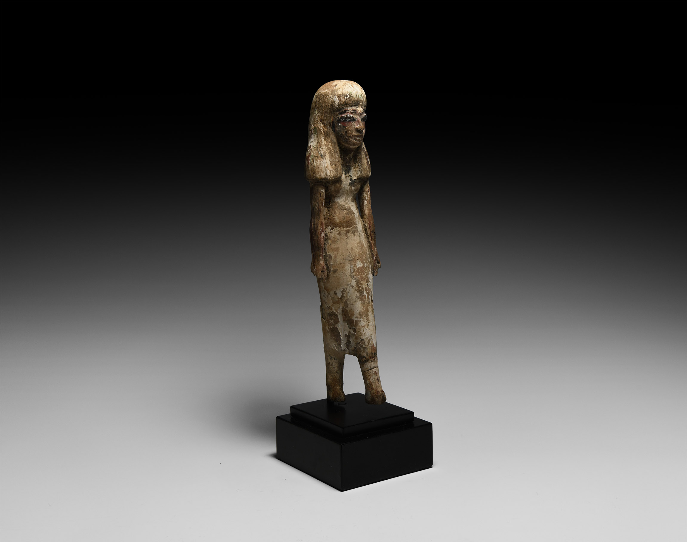 Egyptian Wooden Striding Female