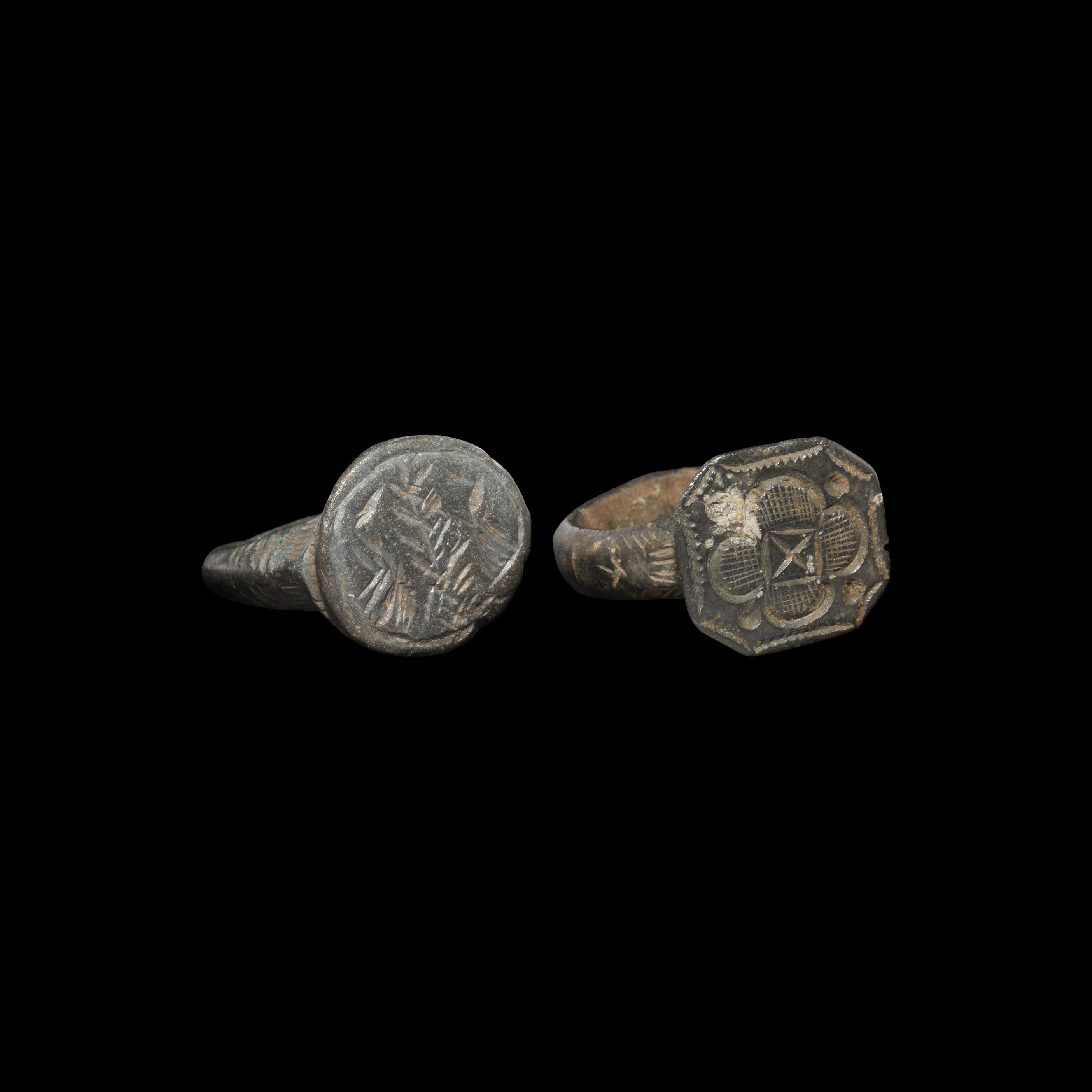 Medieval Signet Ring Group