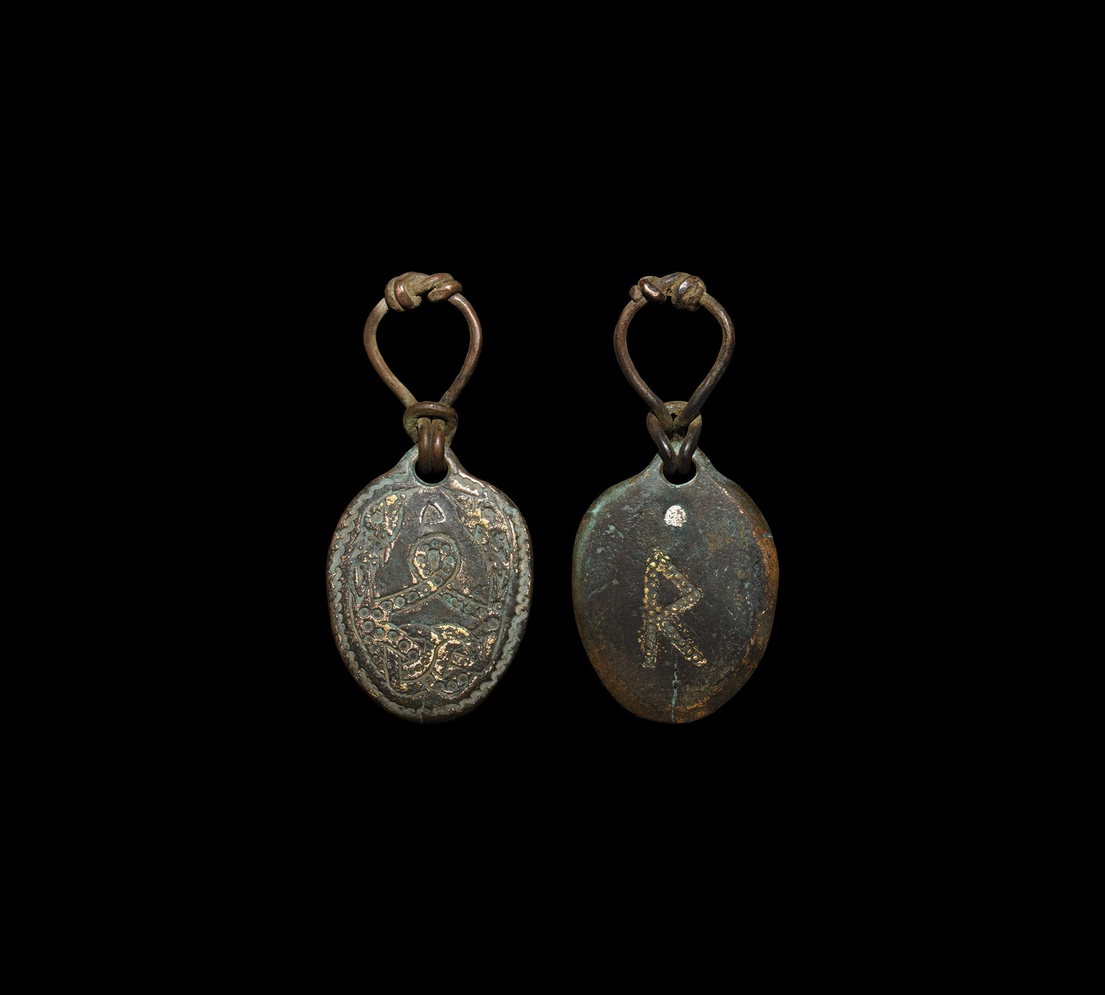 Viking Entwined Snake Pendant