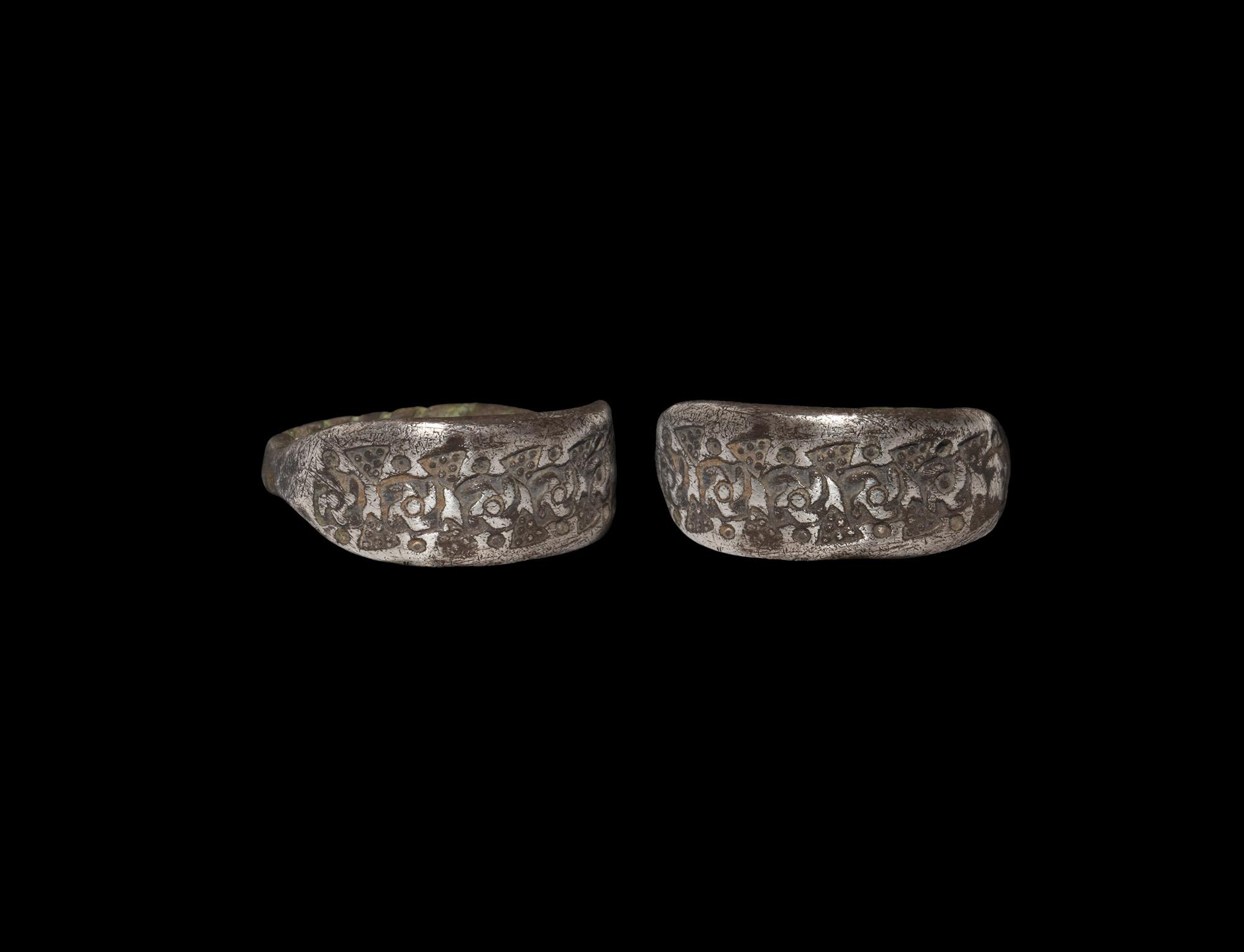 Viking Silver Stamped Ring