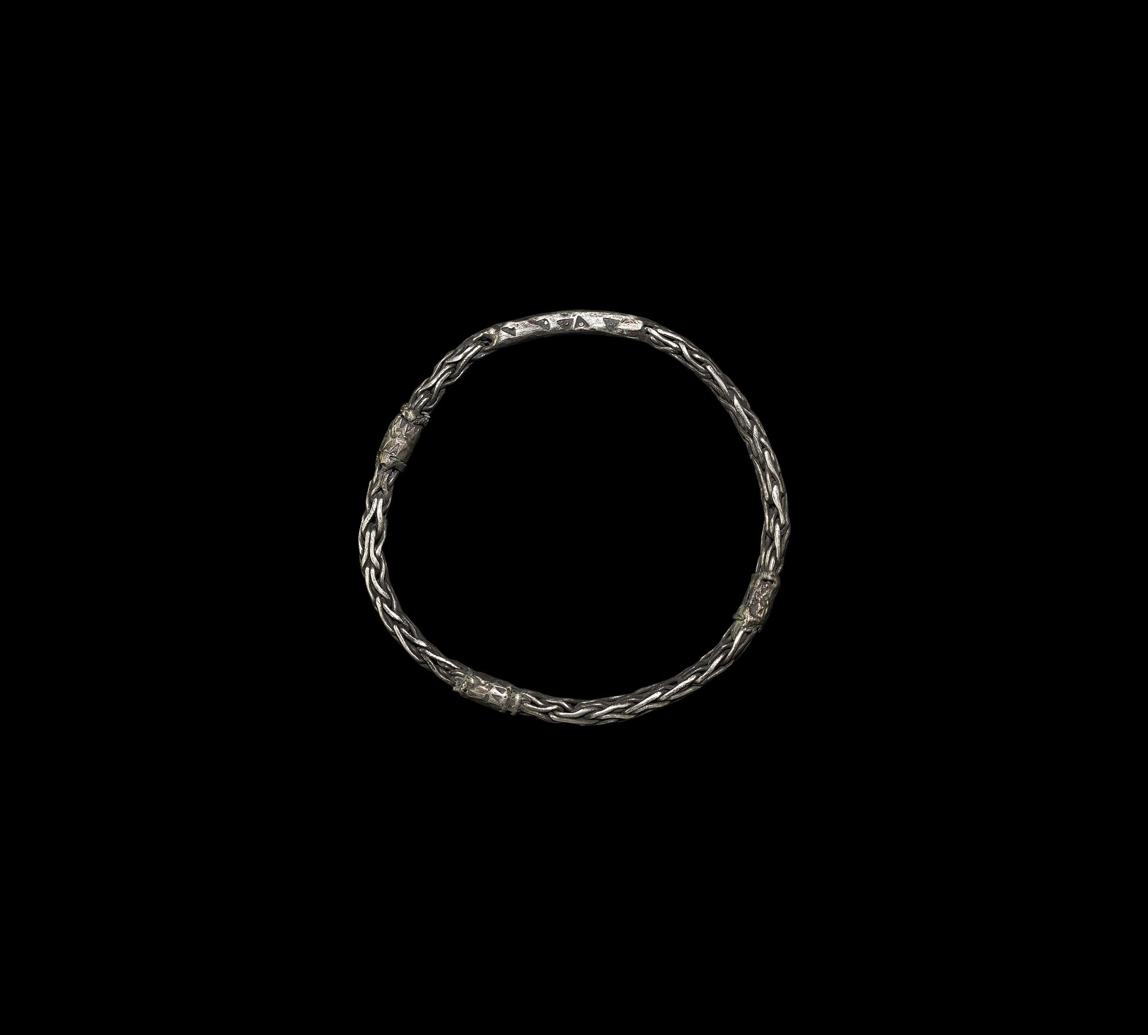 Viking Silver Plaited Bracelet