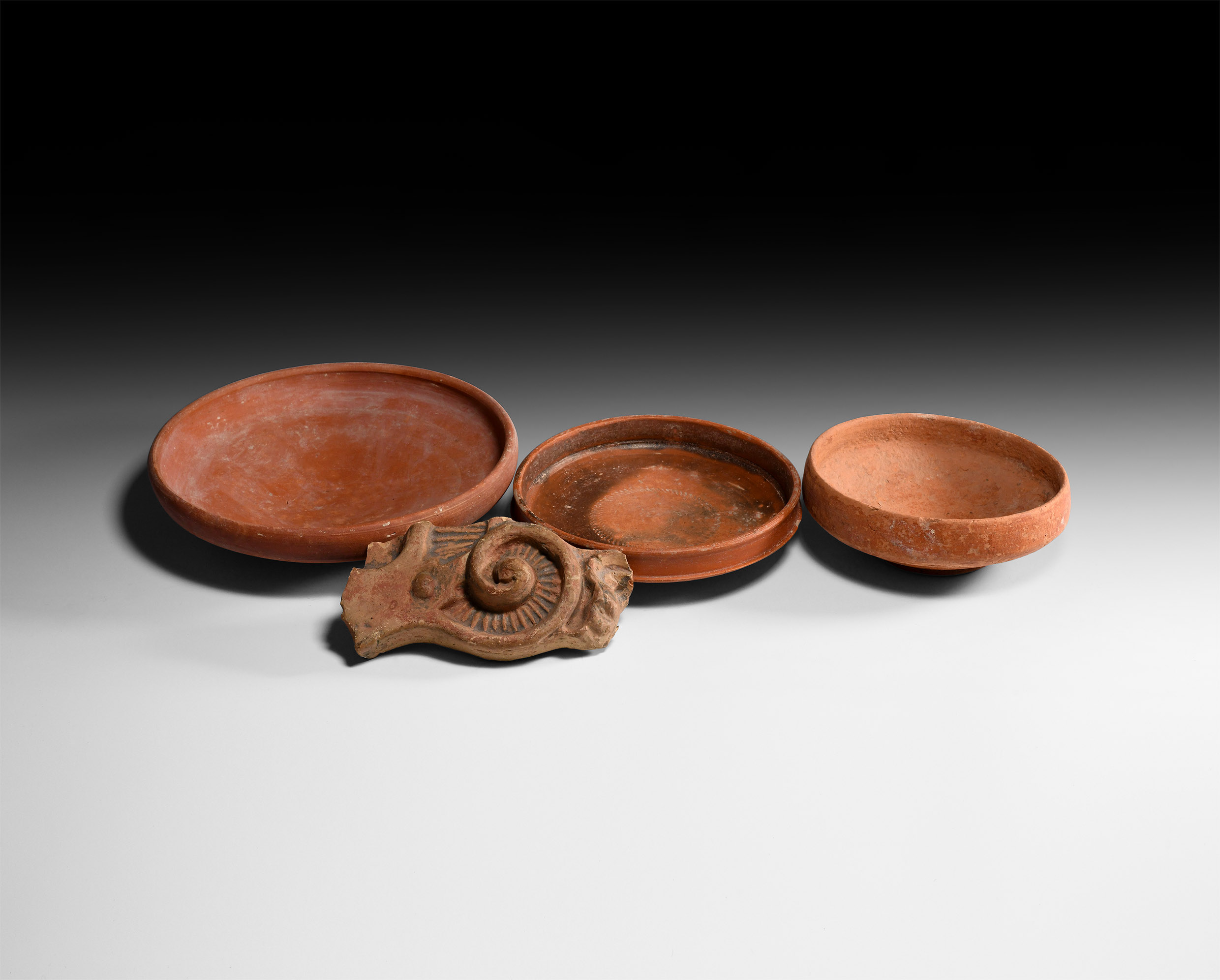 Roman Redware Bowl and Other Artefact Group