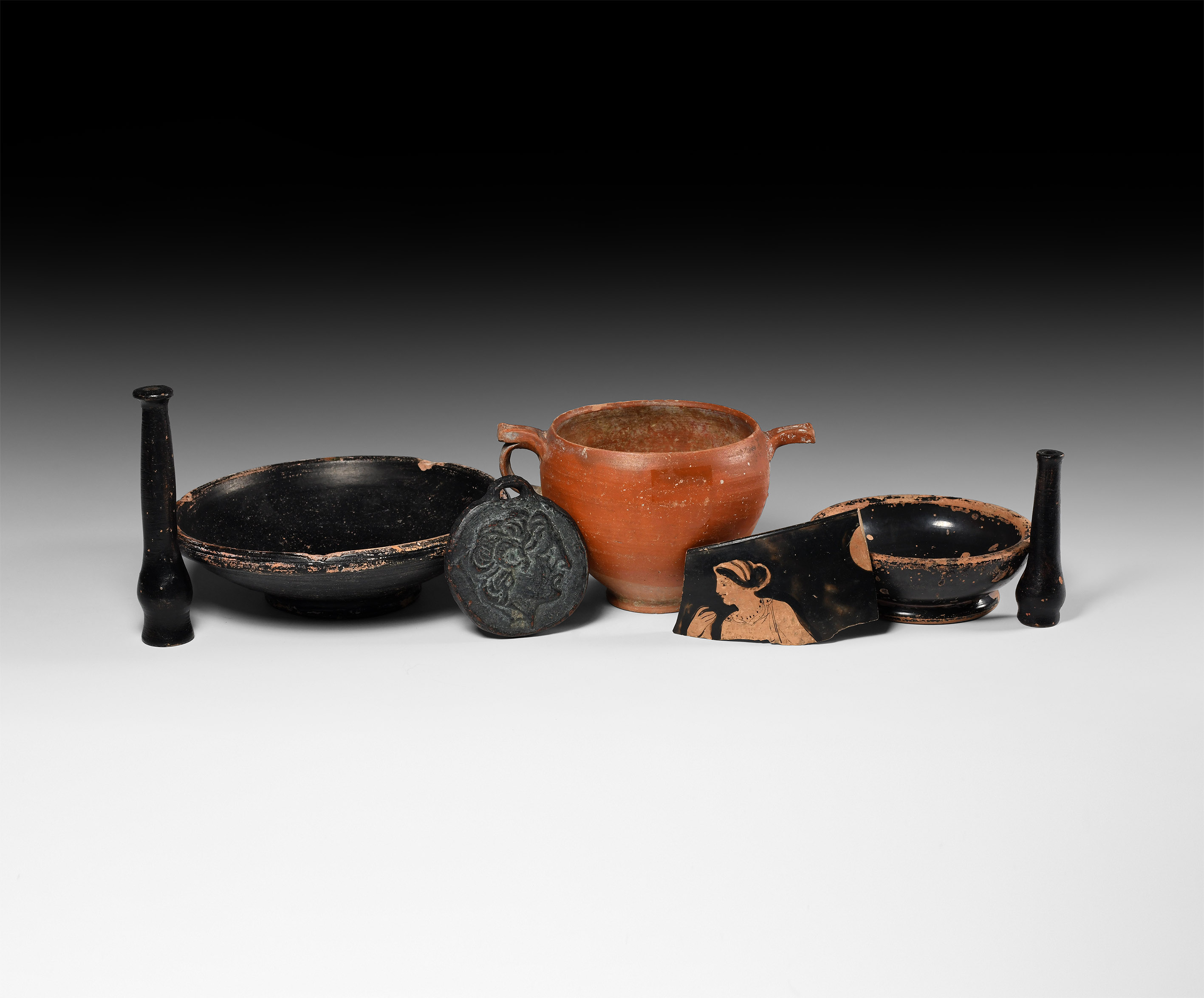 Greek Vessel and Other Items Group