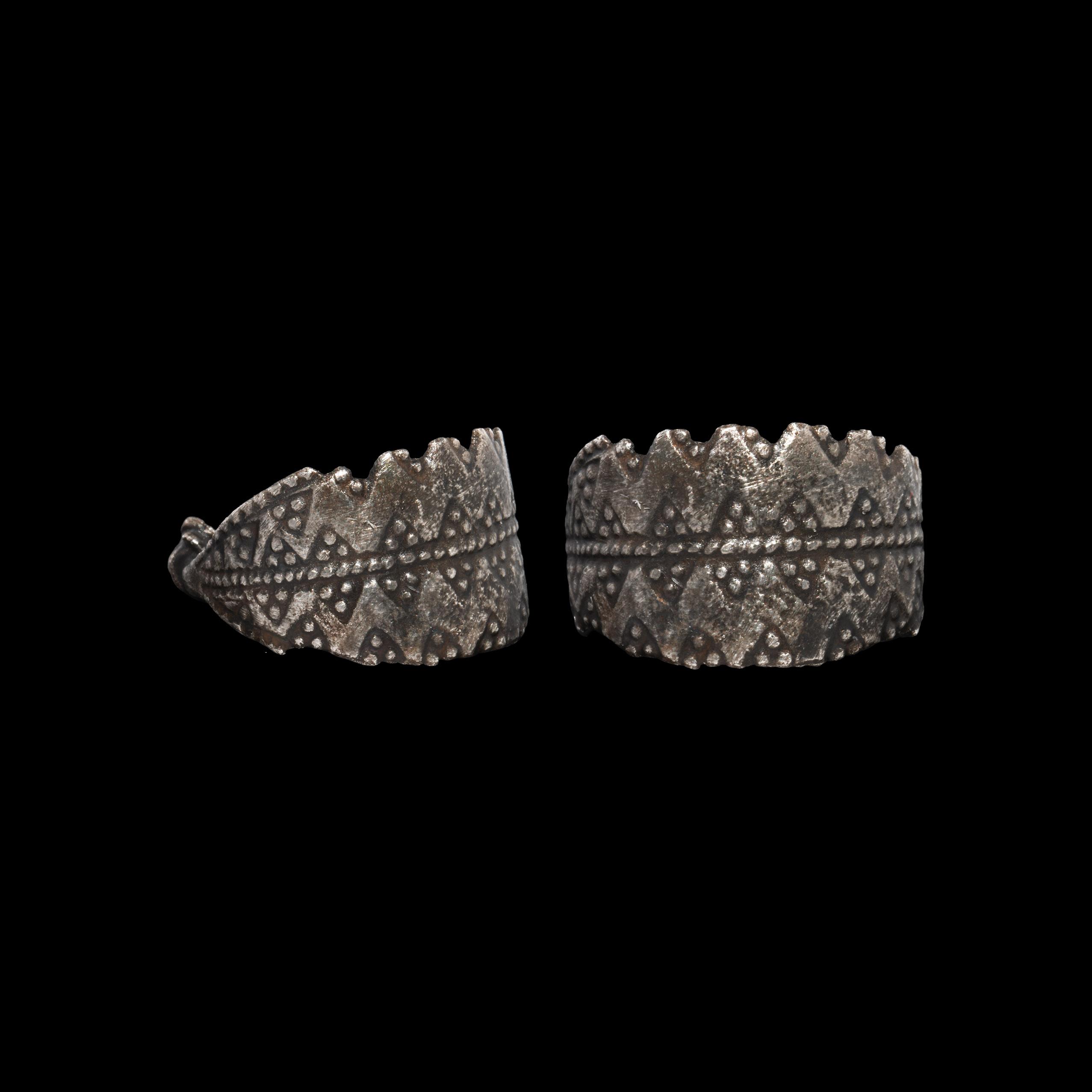 Viking Stamped Silver Ring