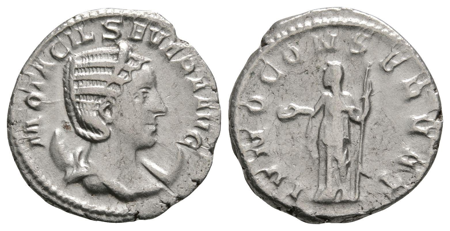 Roman Imperial Coins - Otacilia Severa - Juno Antoninianus