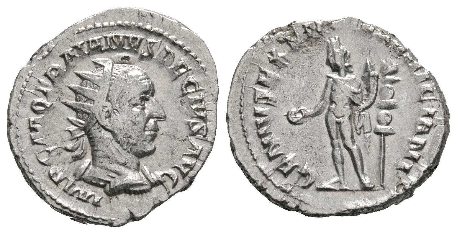 Roman Imperial Coins - Trajan Decius - Genius of Illyricum Antoninianus