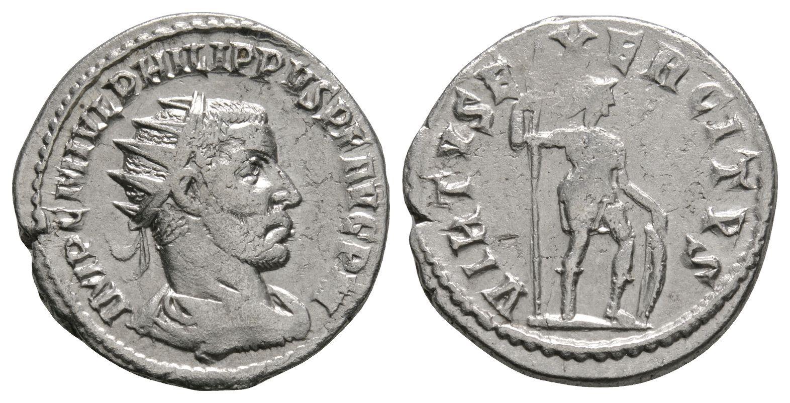 Roman Imperial Coins - Philip I - Virtus Antoninianus