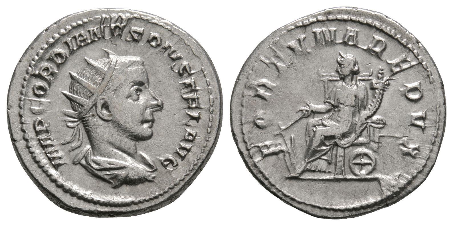 Roman Imperial Coins - Gordian III - Fortuna Antoninianus