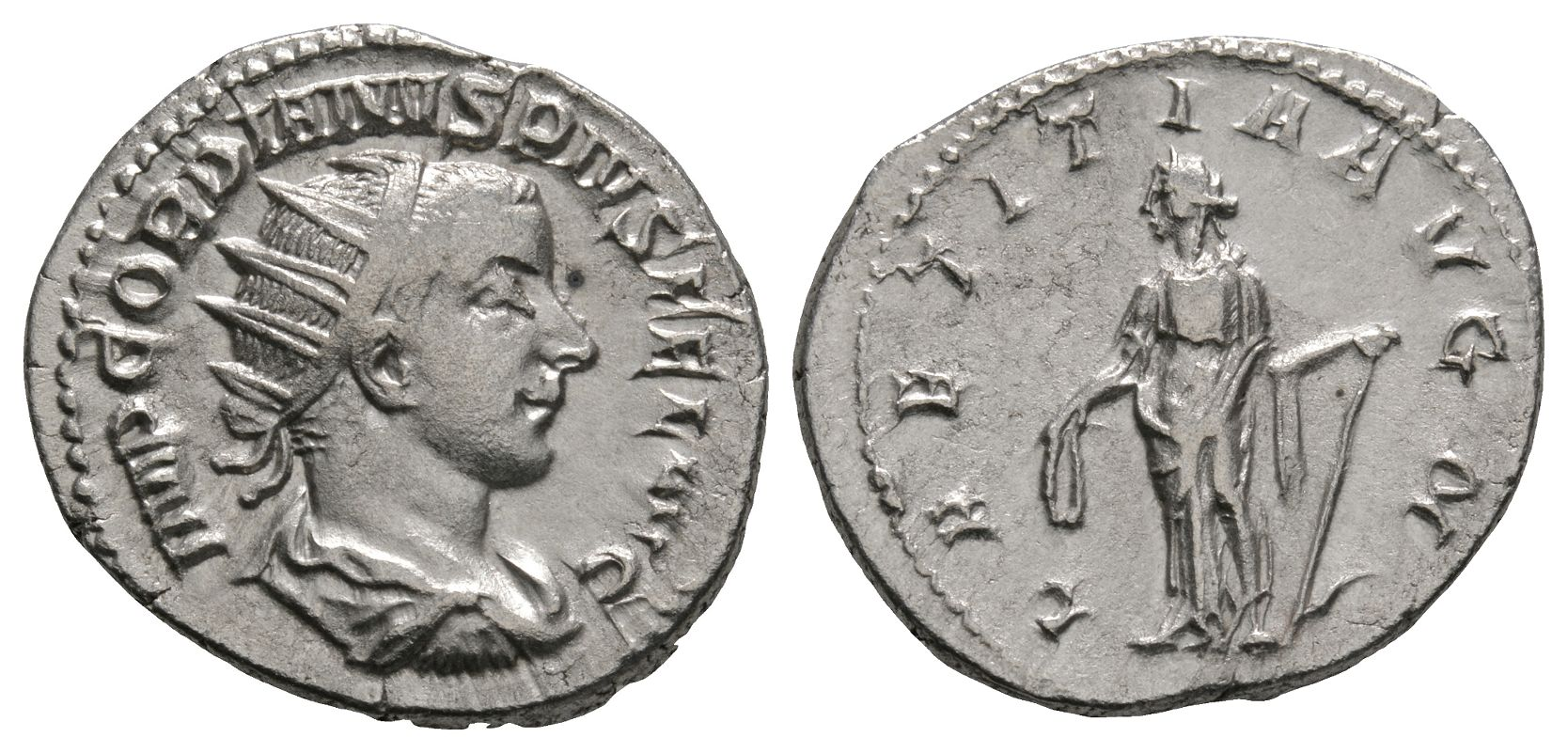 Roman Imperial Coins - Gordian III - Laetitia Antoninianus