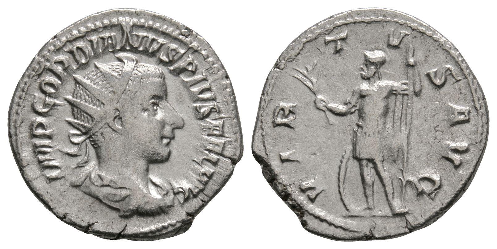 Roman Imperial Coins - Gordian III - Virtus Antoninianus