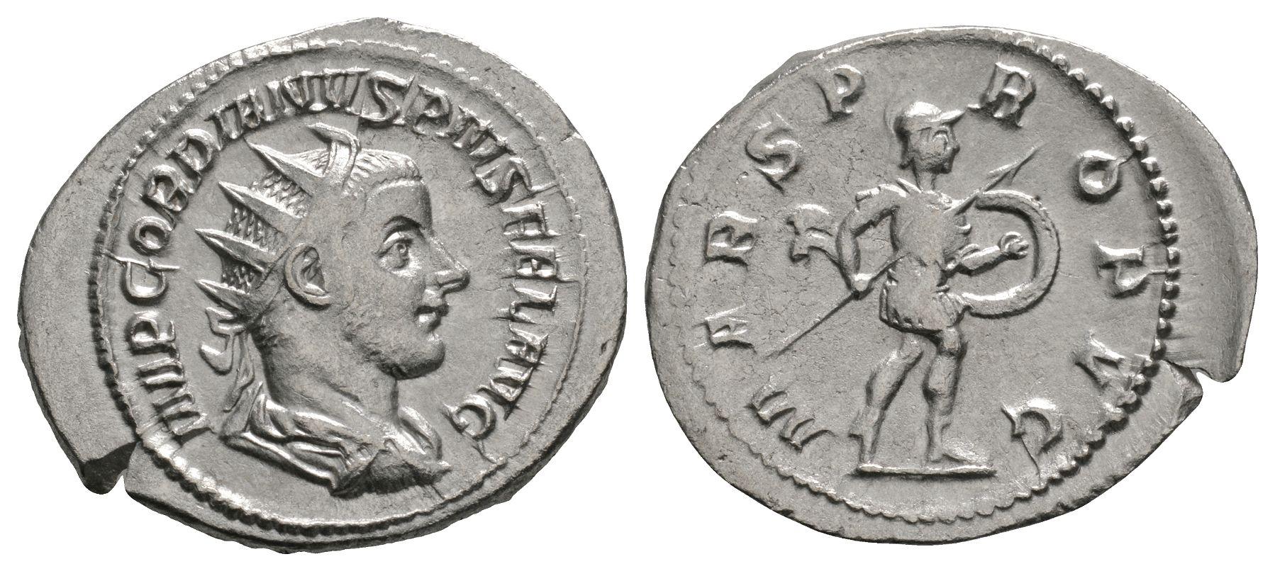 Roman Imperial Coins - Gordian III - Mars Antoninianus