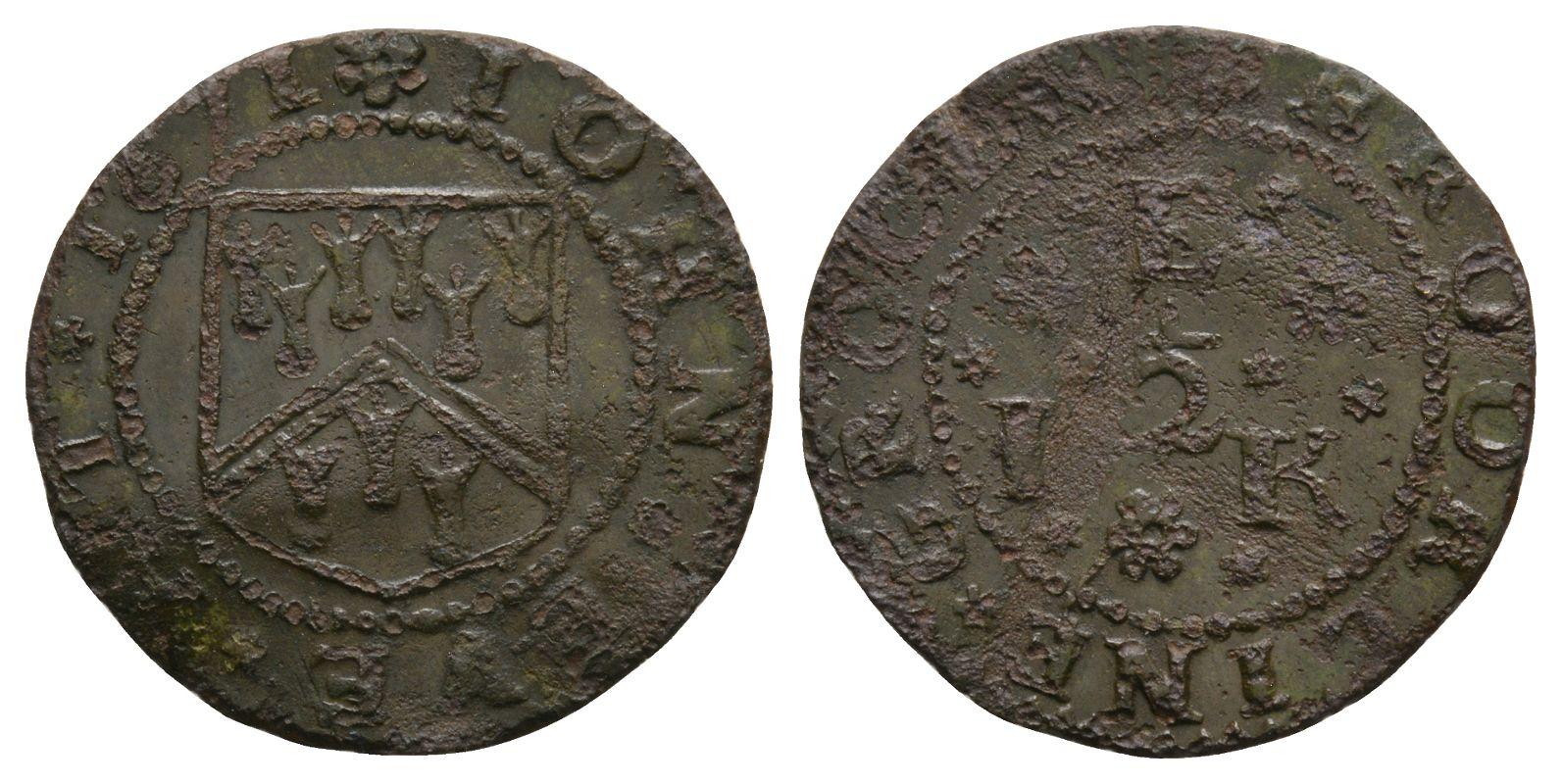 British Tokens - 17th Century - Kent - Brookland - Eve - Token Halfpenny