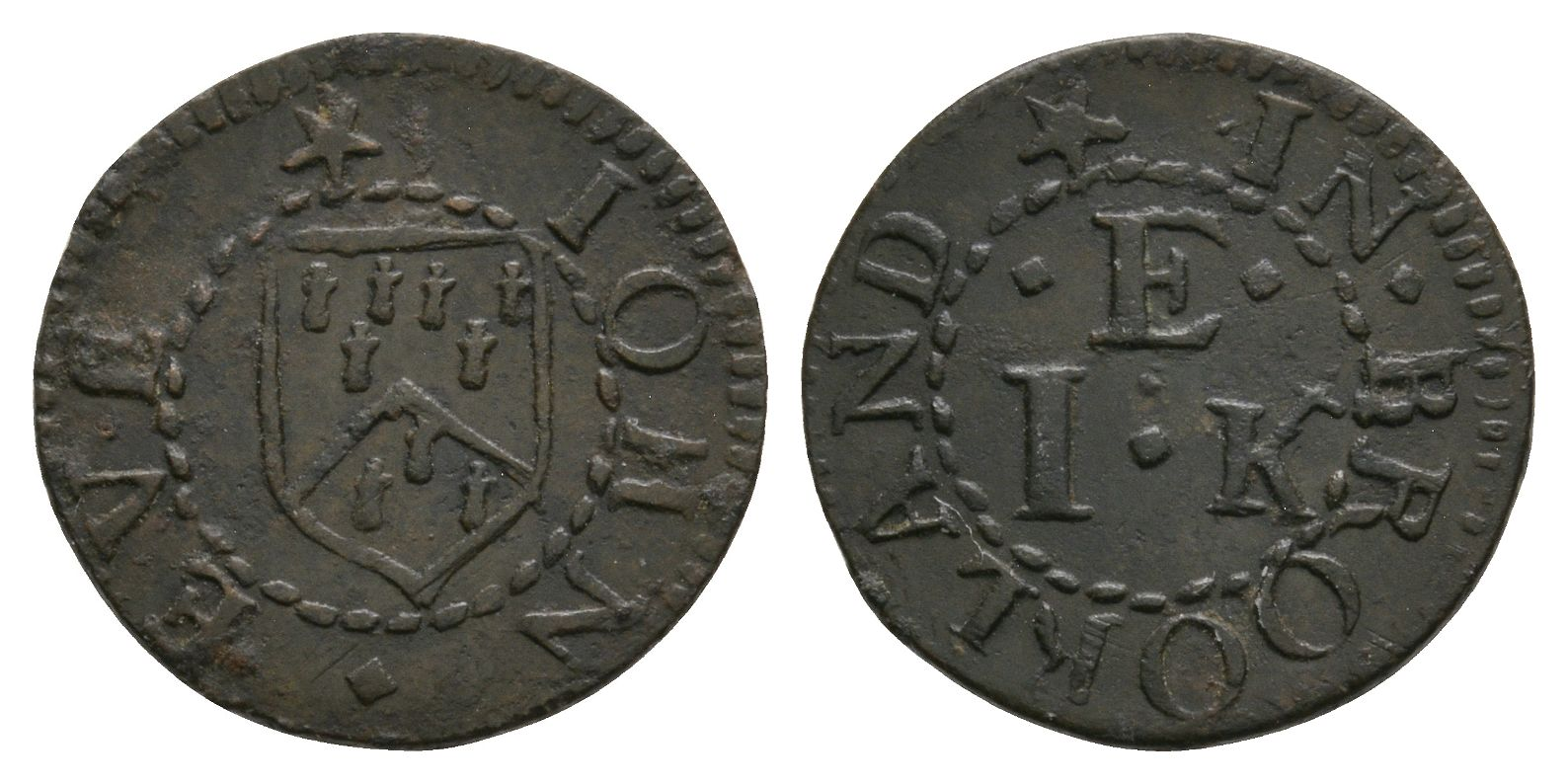 British Tokens - 17th Century - Kent - Brookland - Eve - Token Farthing