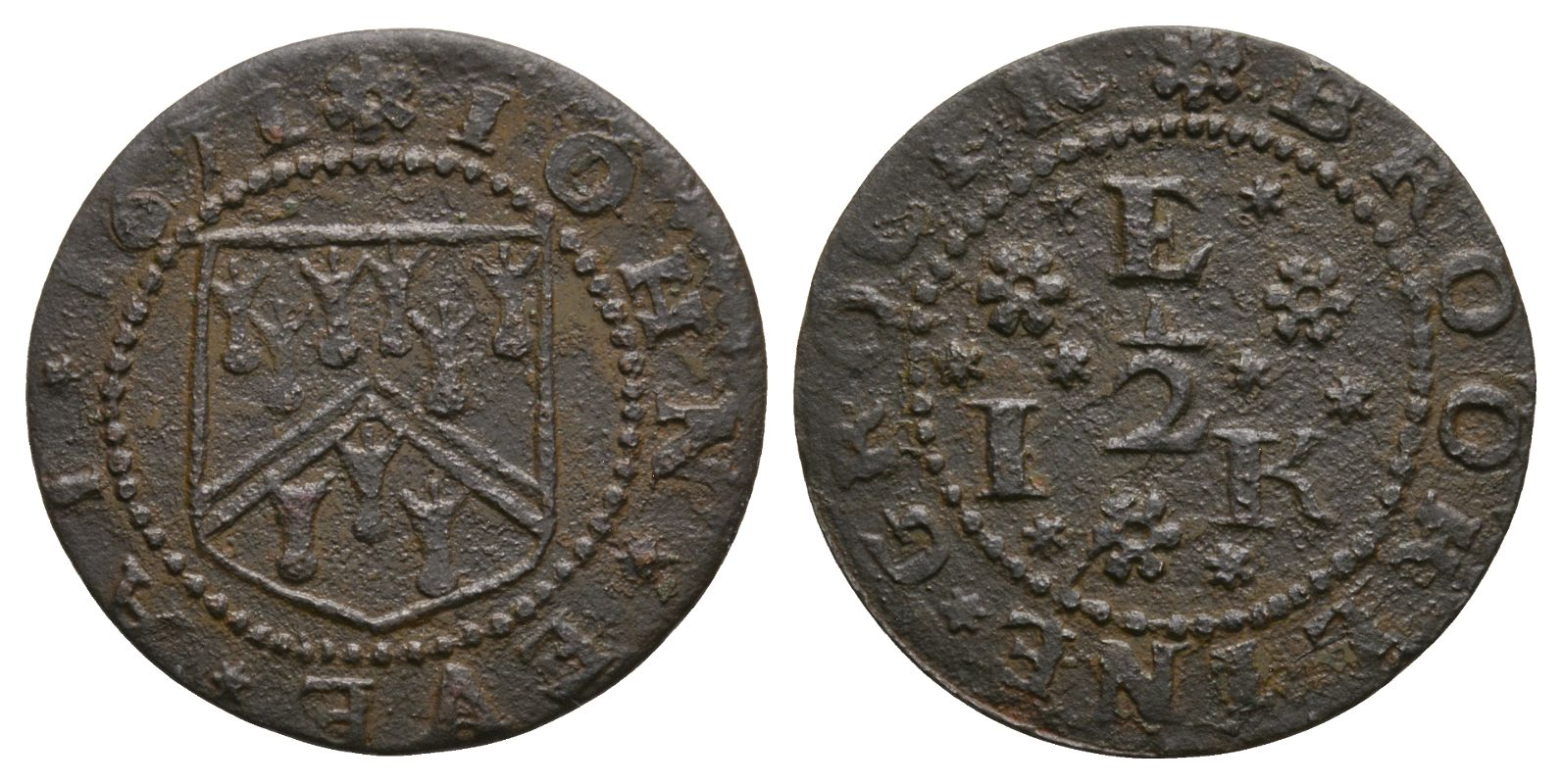 British Tokens - 17th Century - Kent - Brookland - Eve - Token Halfpenny