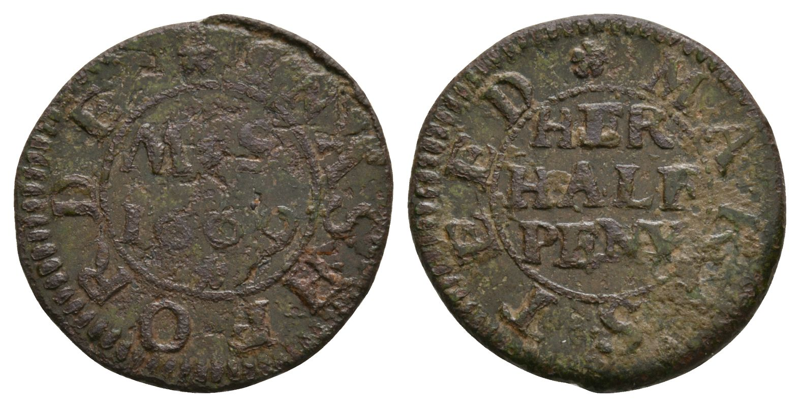 British Tokens - 17th Century - Kent - Ashford - Steed - Token Halfpenny