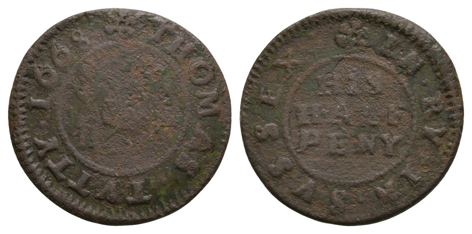 British Tokens - 17th Century - Sussex - Rye - Tutty - Token Halfpenny