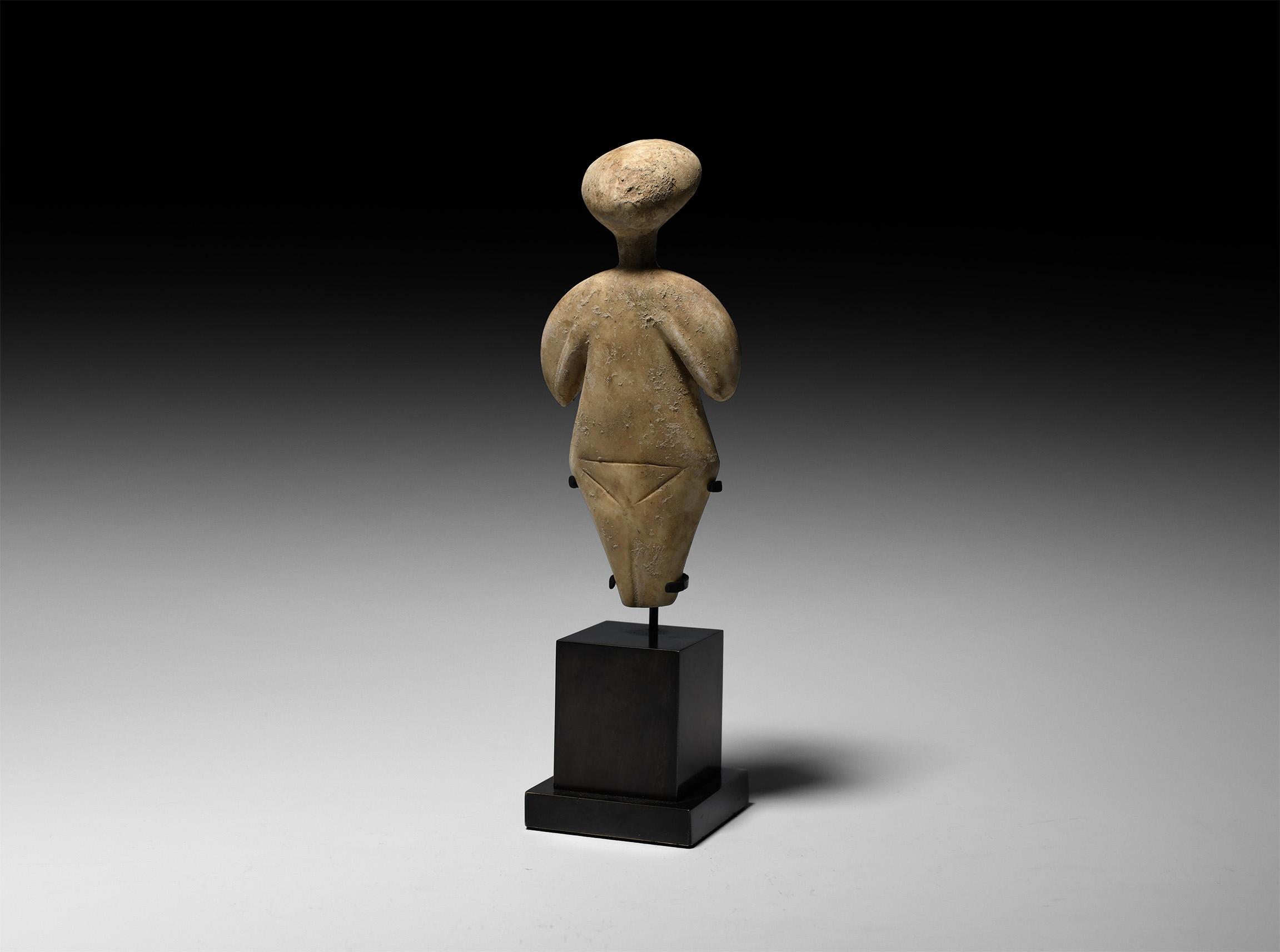 Anatolian Chalcolithic Star Gazer Idol