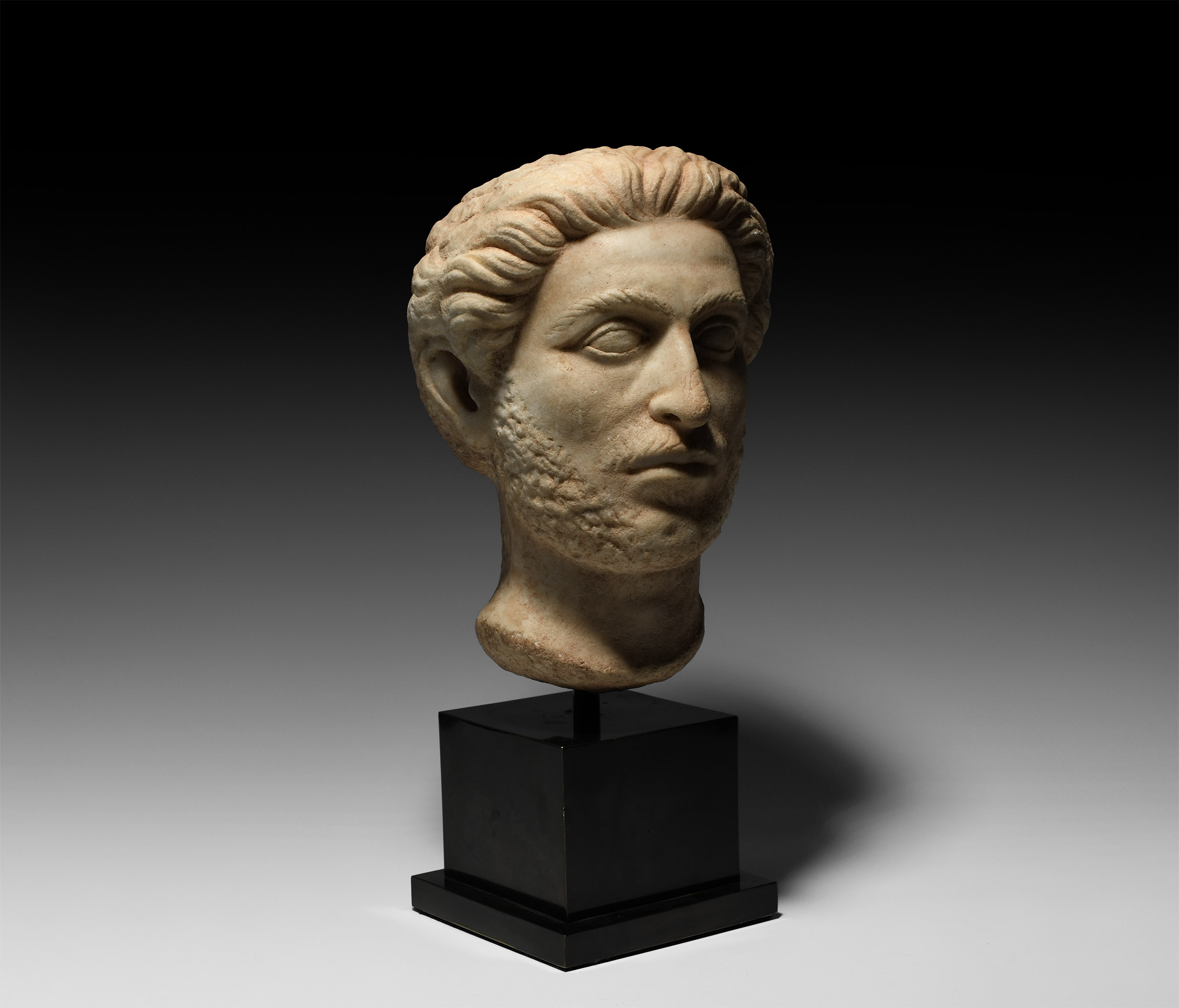 Roman Marble Head of a Nobleman