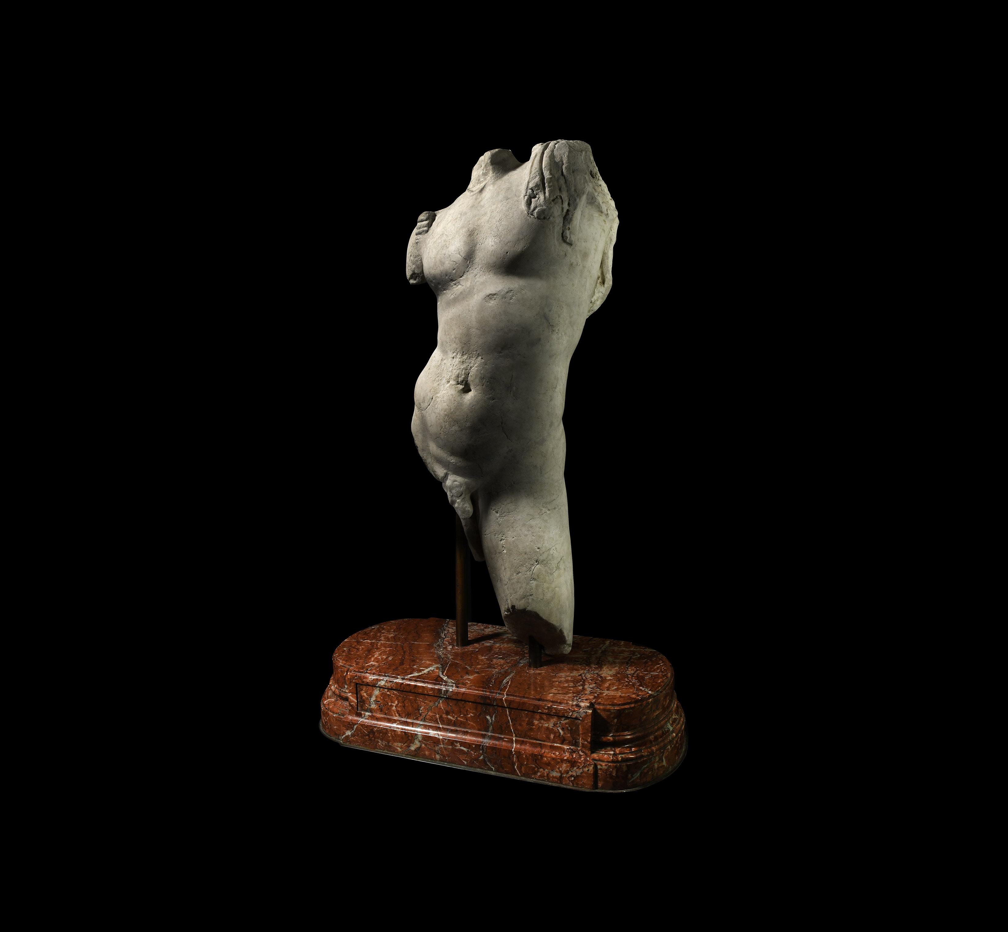 Roman Marble Muscular Torso of Bacchus