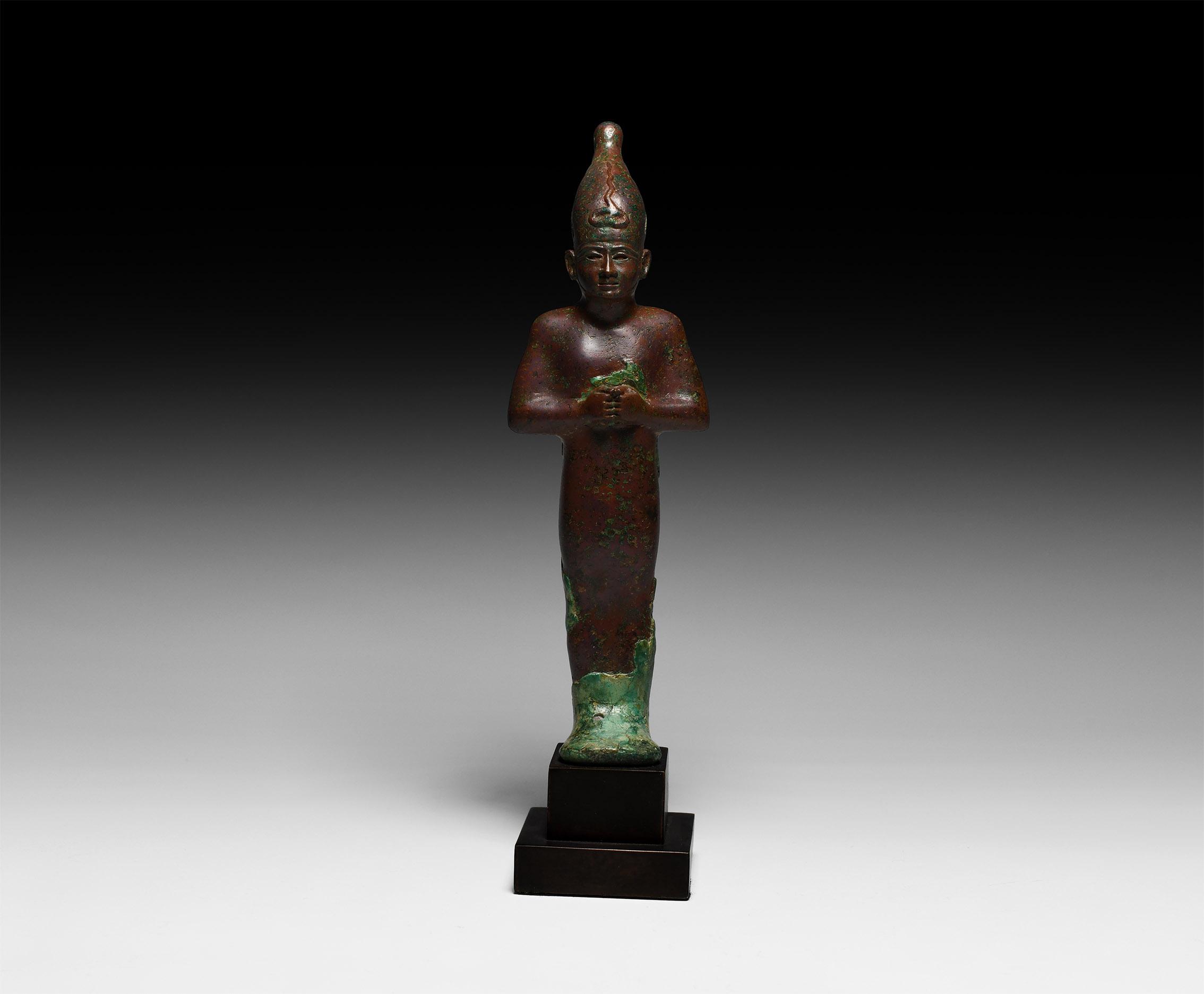Egyptian Mummiform Statuette of Osiris