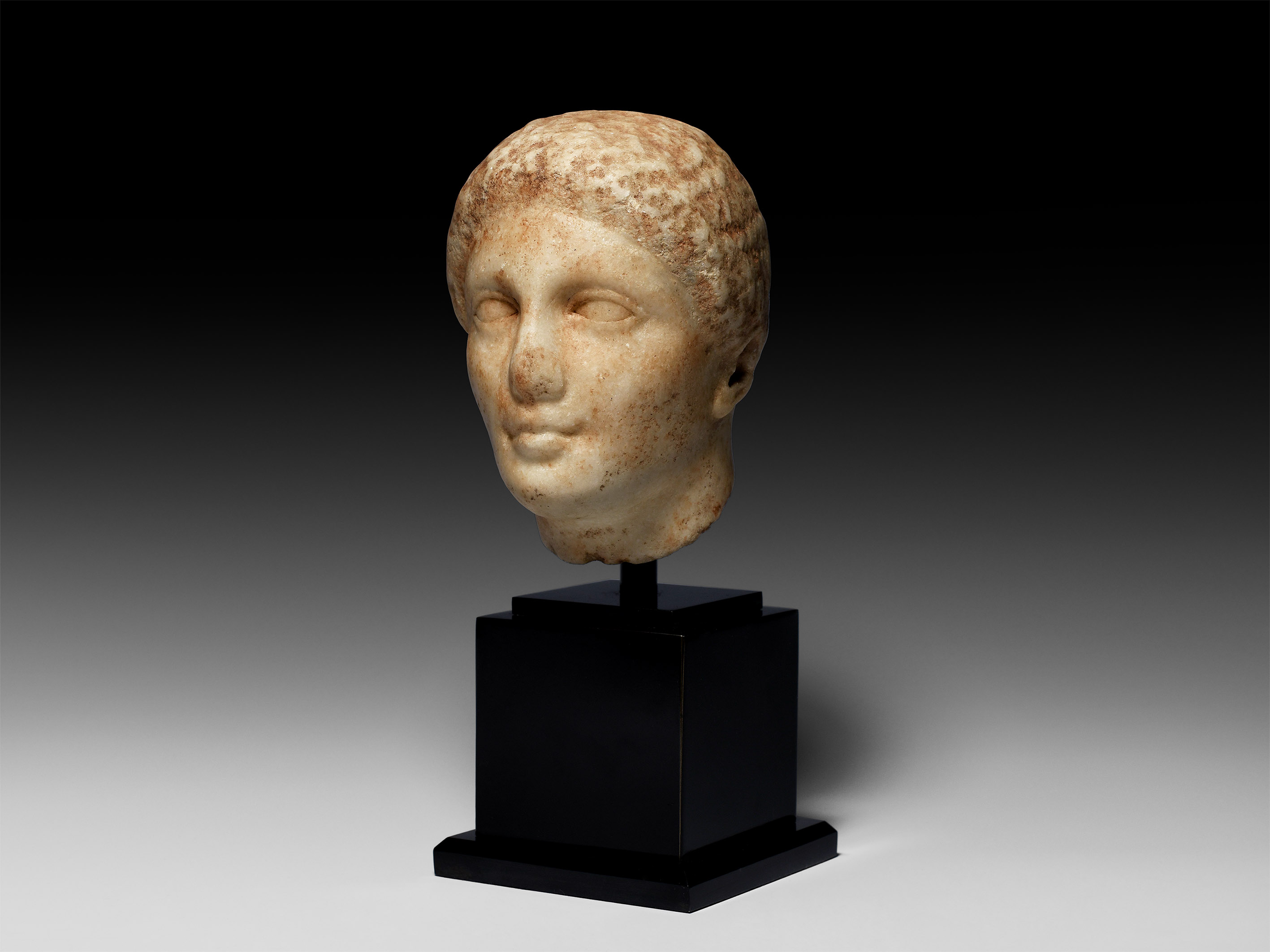 Greek Marble Head of a Youth