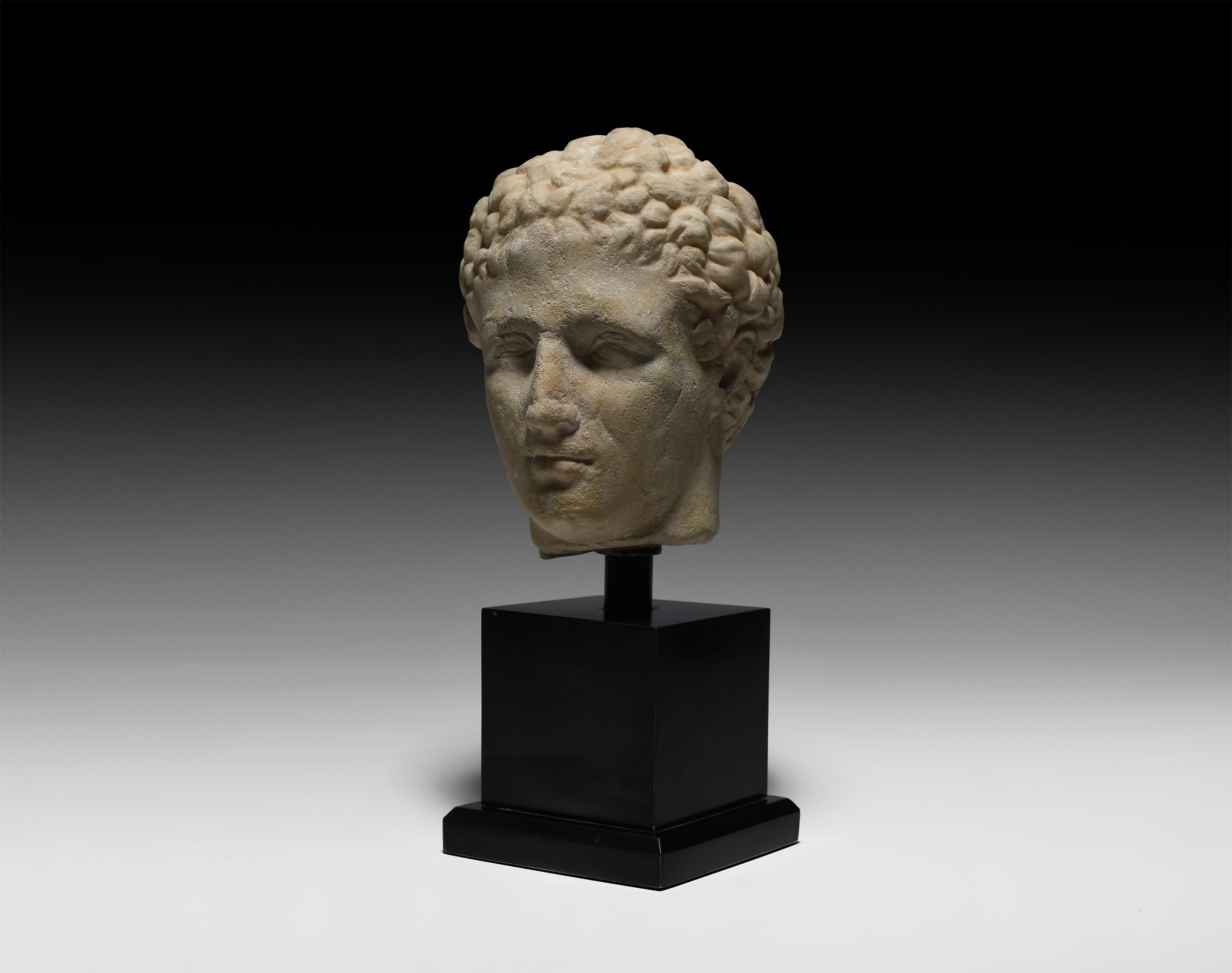 Roman Marble Head of a Man