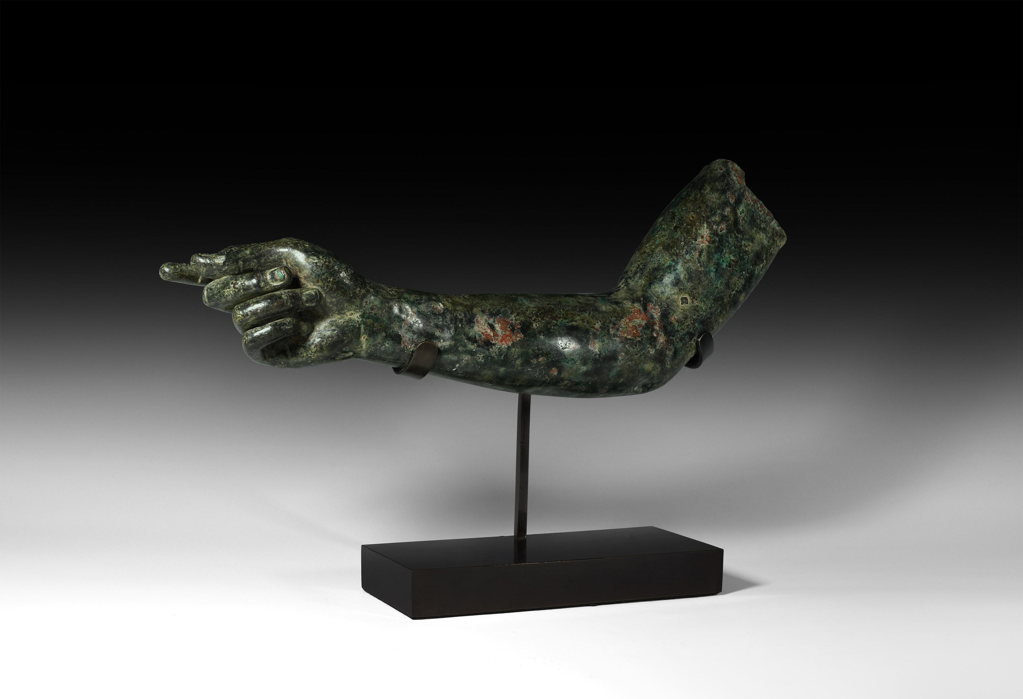 Roman Life-Size Gesturing Statue Arm