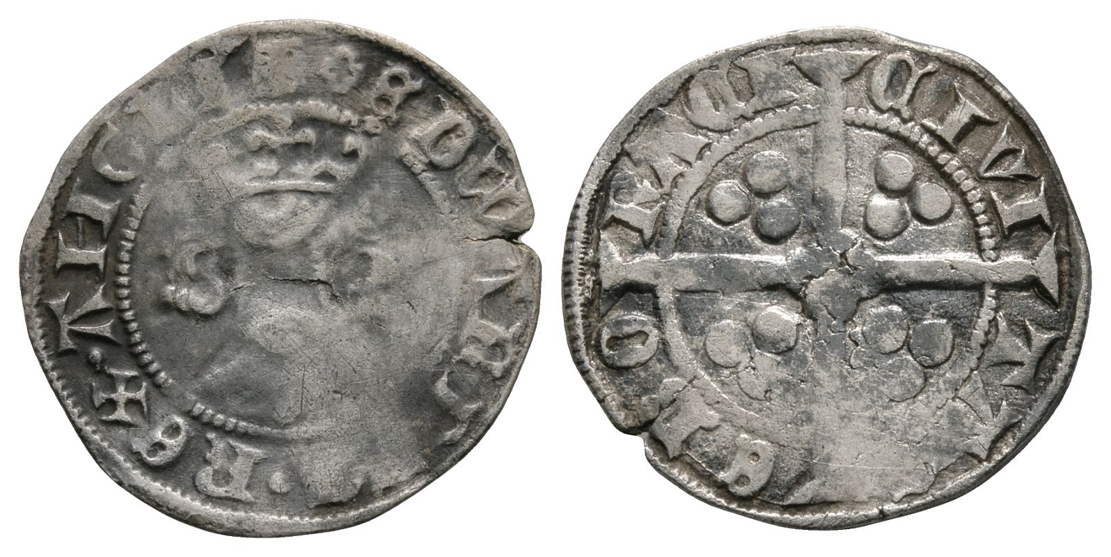 English Medieval Coins - Edward III - York / Thoresby - Treaty Penny