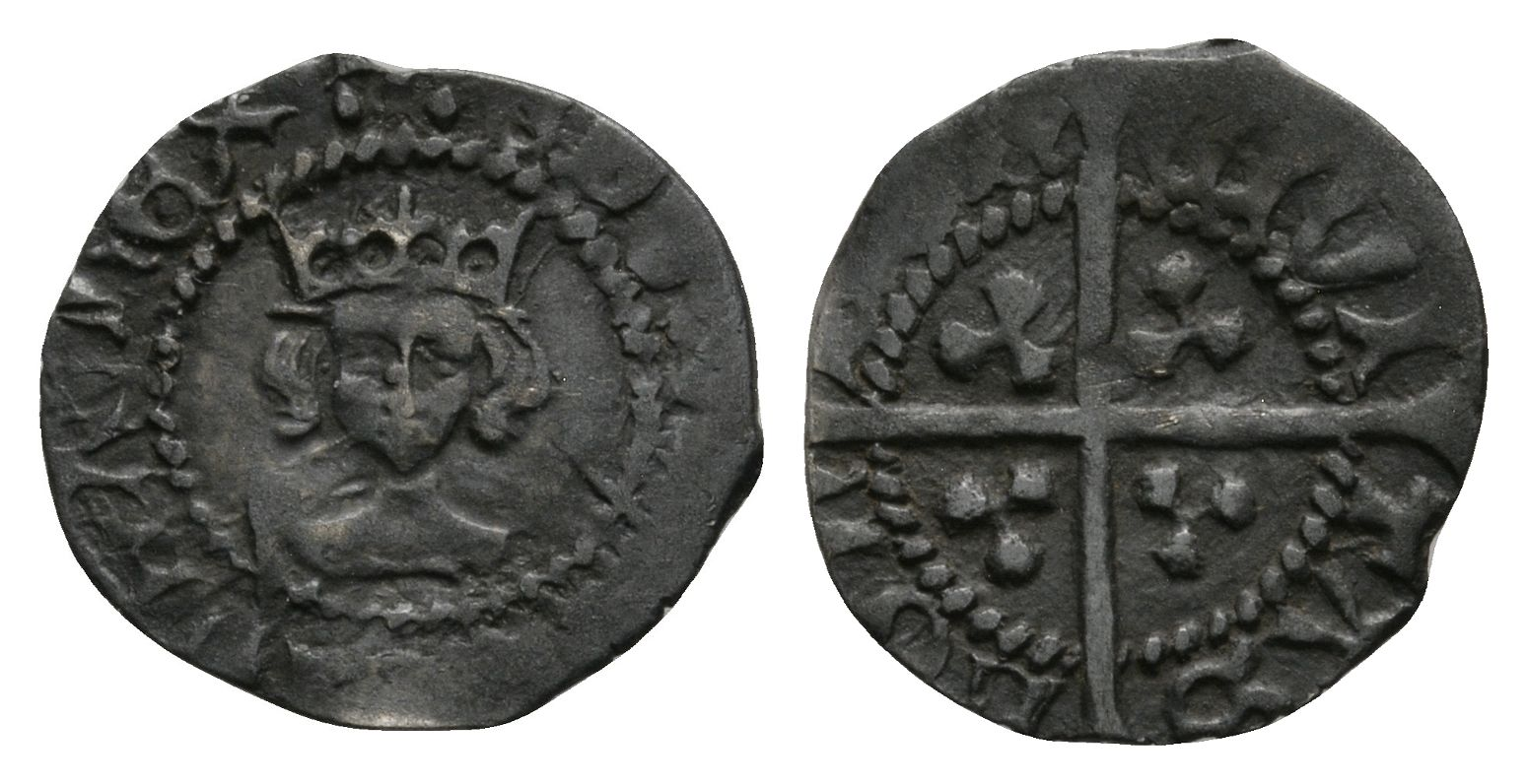 English Medieval Coins - Edward IV - London - Long Cross Halfpenny